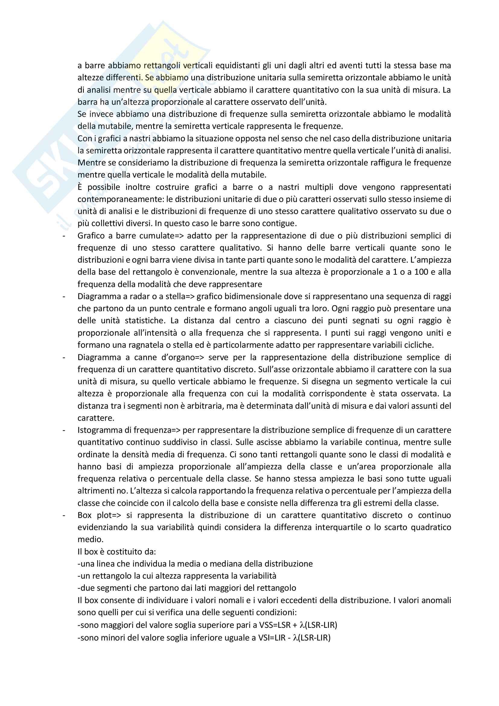 Riassunto esame Fonti e strumenti statistici per la comunicazione, prof Mingo,libro consigliato Statistiche,Istruzioni per l'uso, Bocci,Mingo Pag. 11
