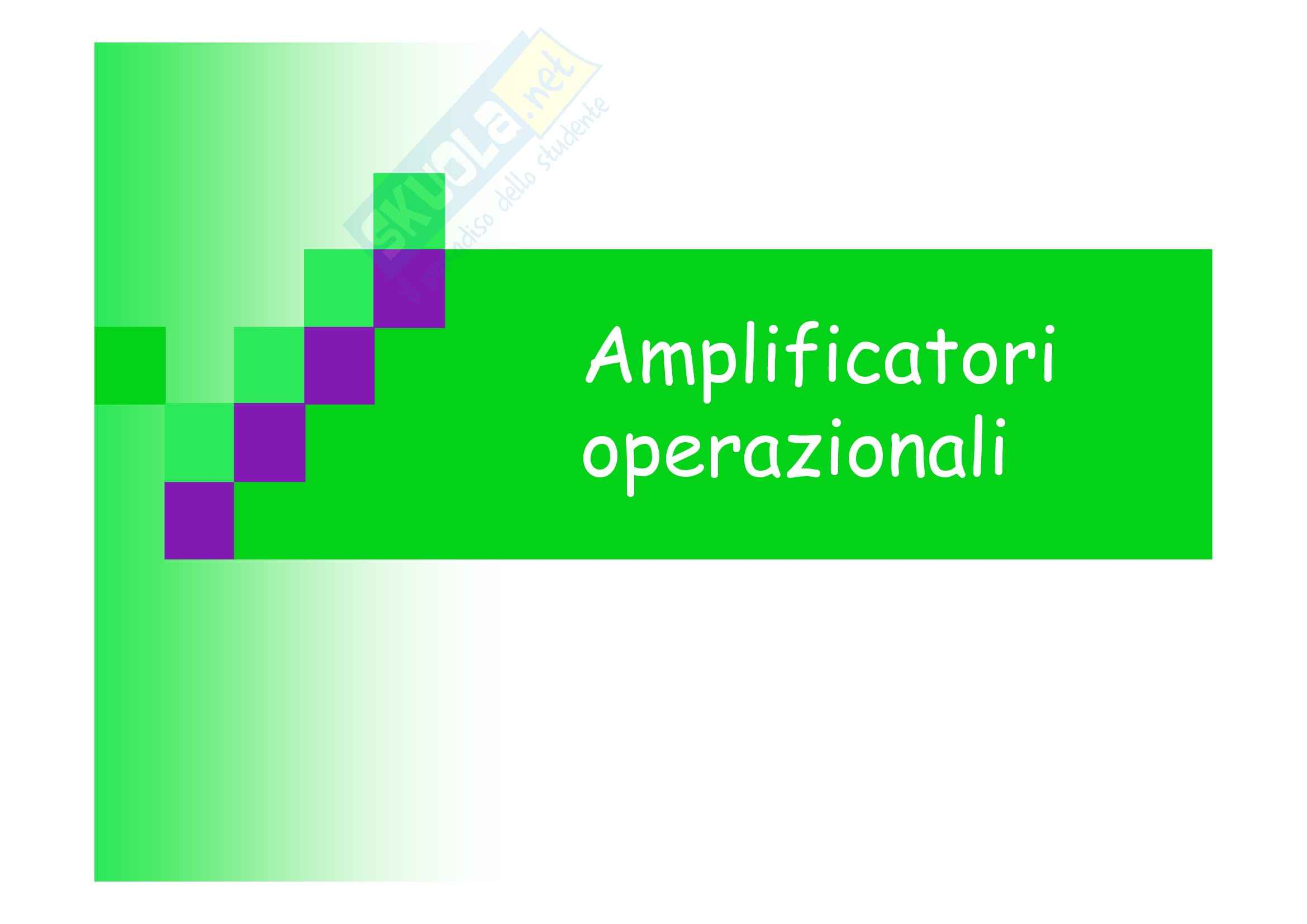 Elettronica II - Amplificatori Operazionali
