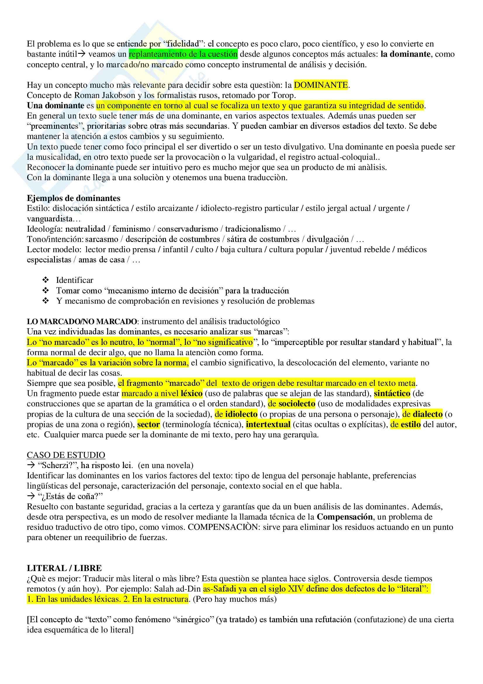 Lingua spagnola - traductologia Pag. 6