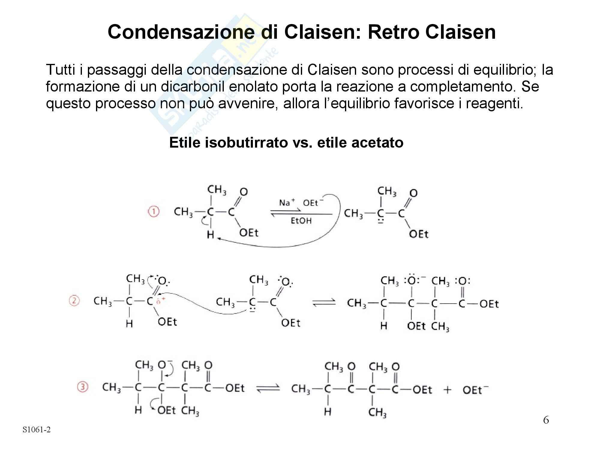 Chimica organica - condensazione di Claisen Pag. 6