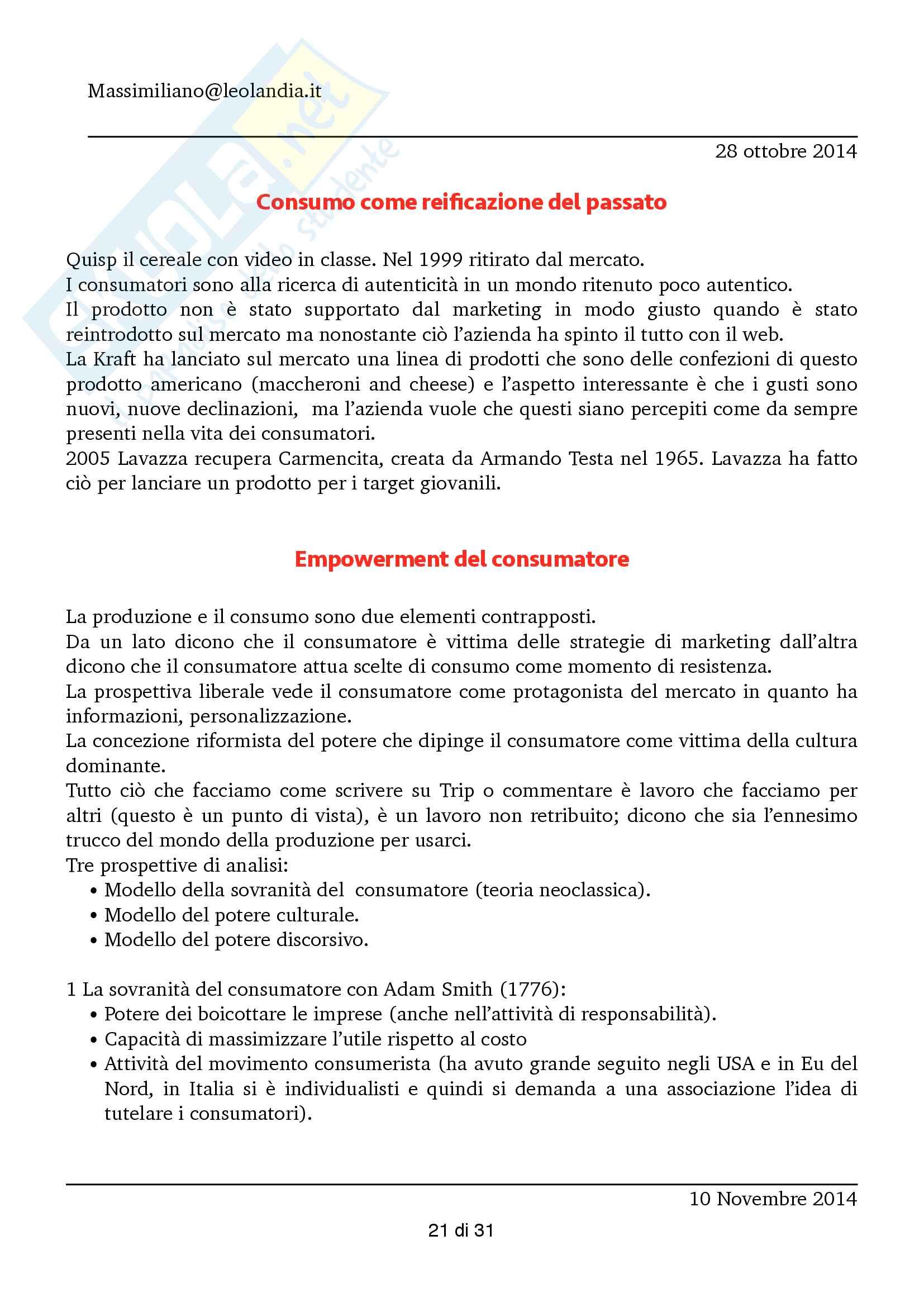 Consumi e società (Appunti) Pag. 21