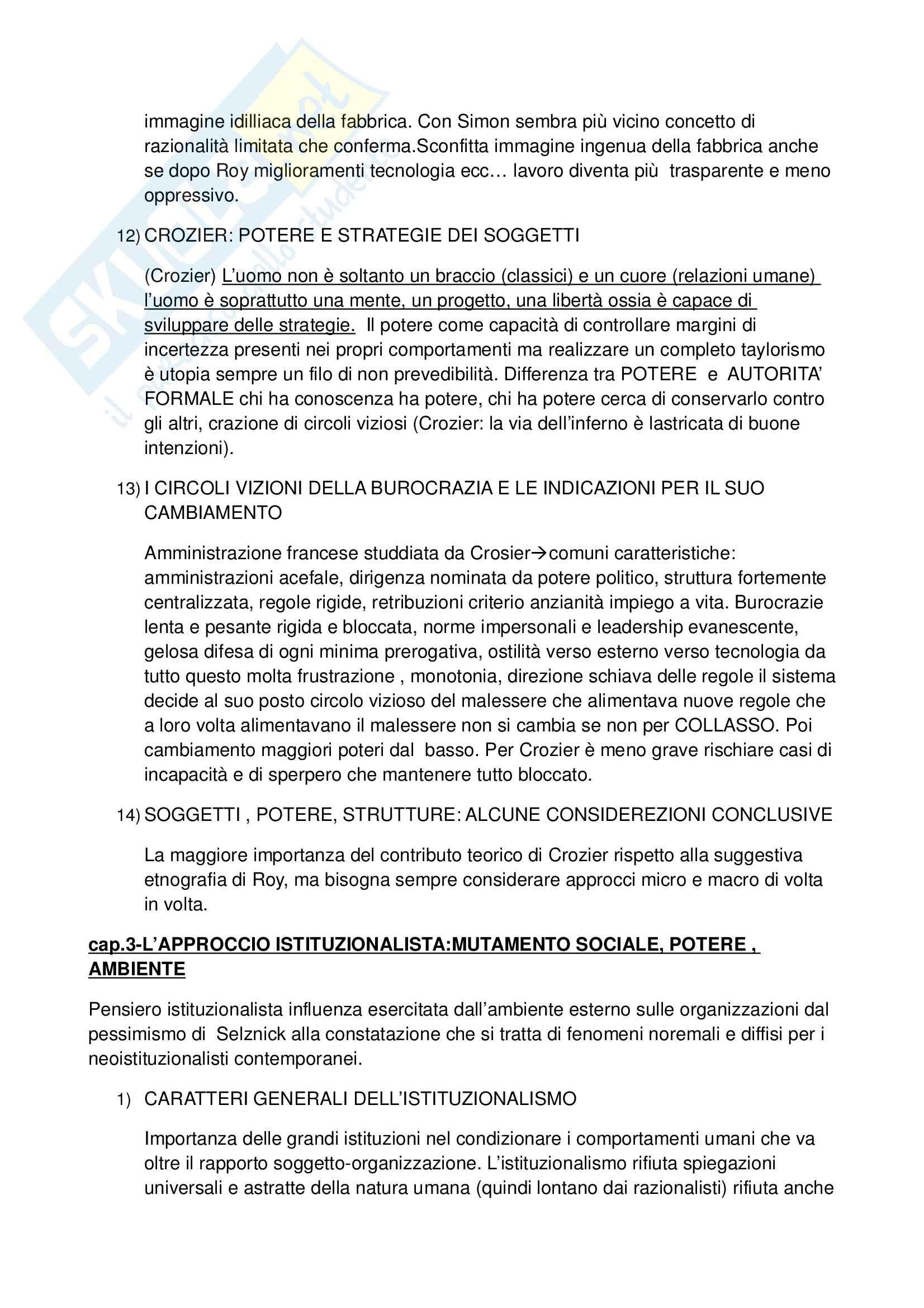 Riassunto esame Sociologia economica e dell'organizzazione, prof. Ballarino, libro consigliato Sociologia economica e dell'organizzazione, Bonazzi Pag. 21