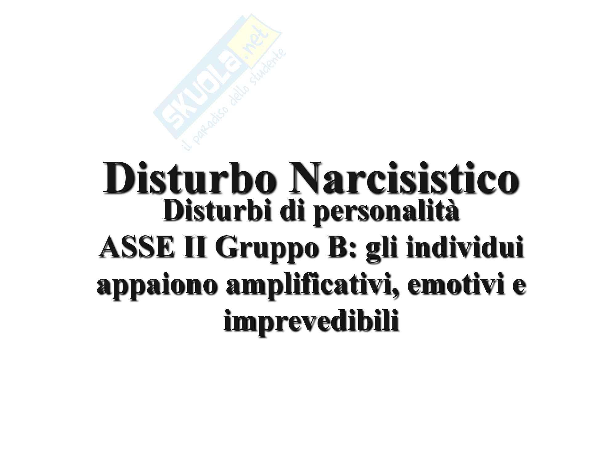 Disturbo Narcisistico da Personalità