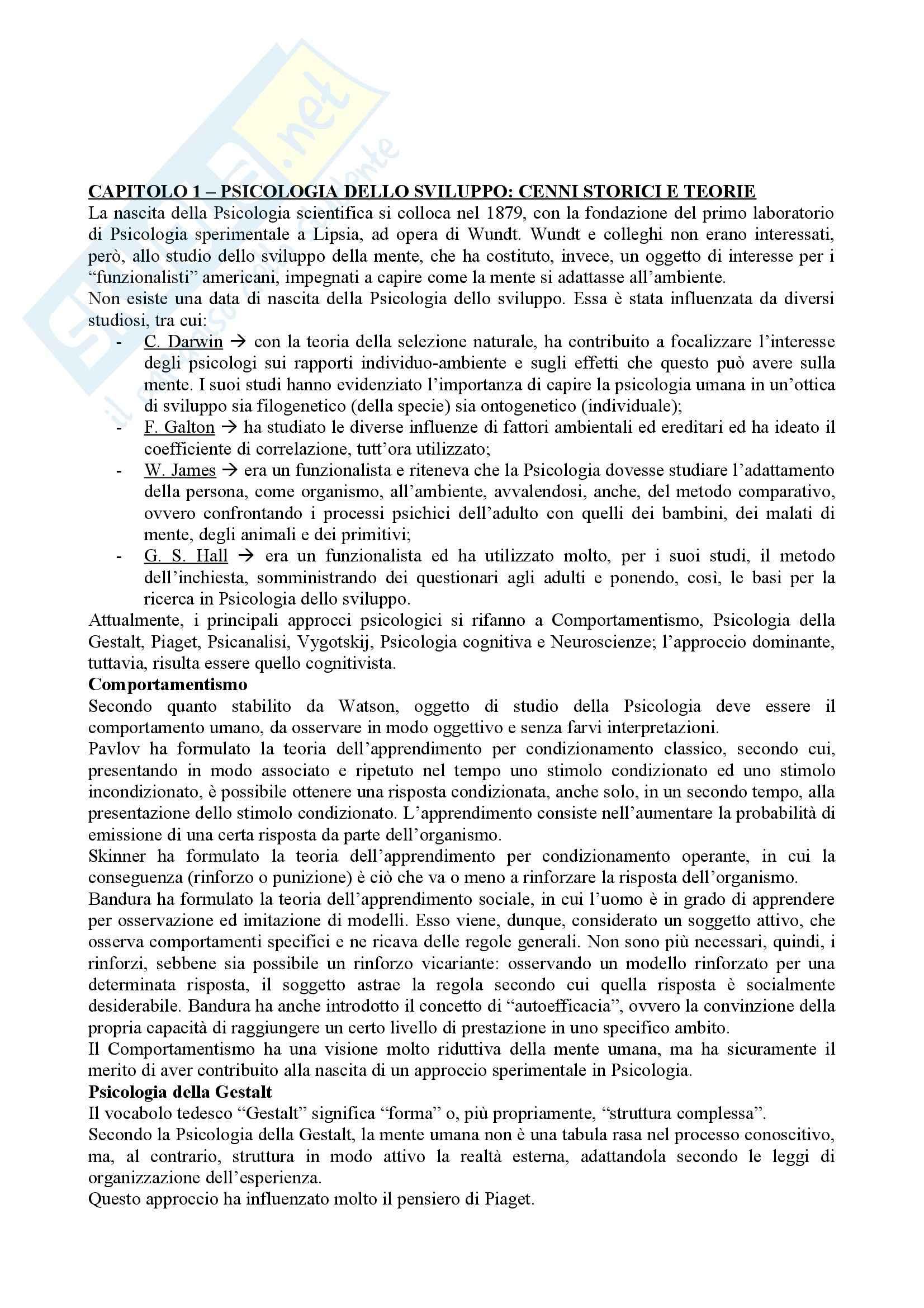 Riassunto esame Psicologia dello sviluppo, prof. Molina, libro consigliato Psicologia dello sviluppo, Vianello Gini Lanfranchi