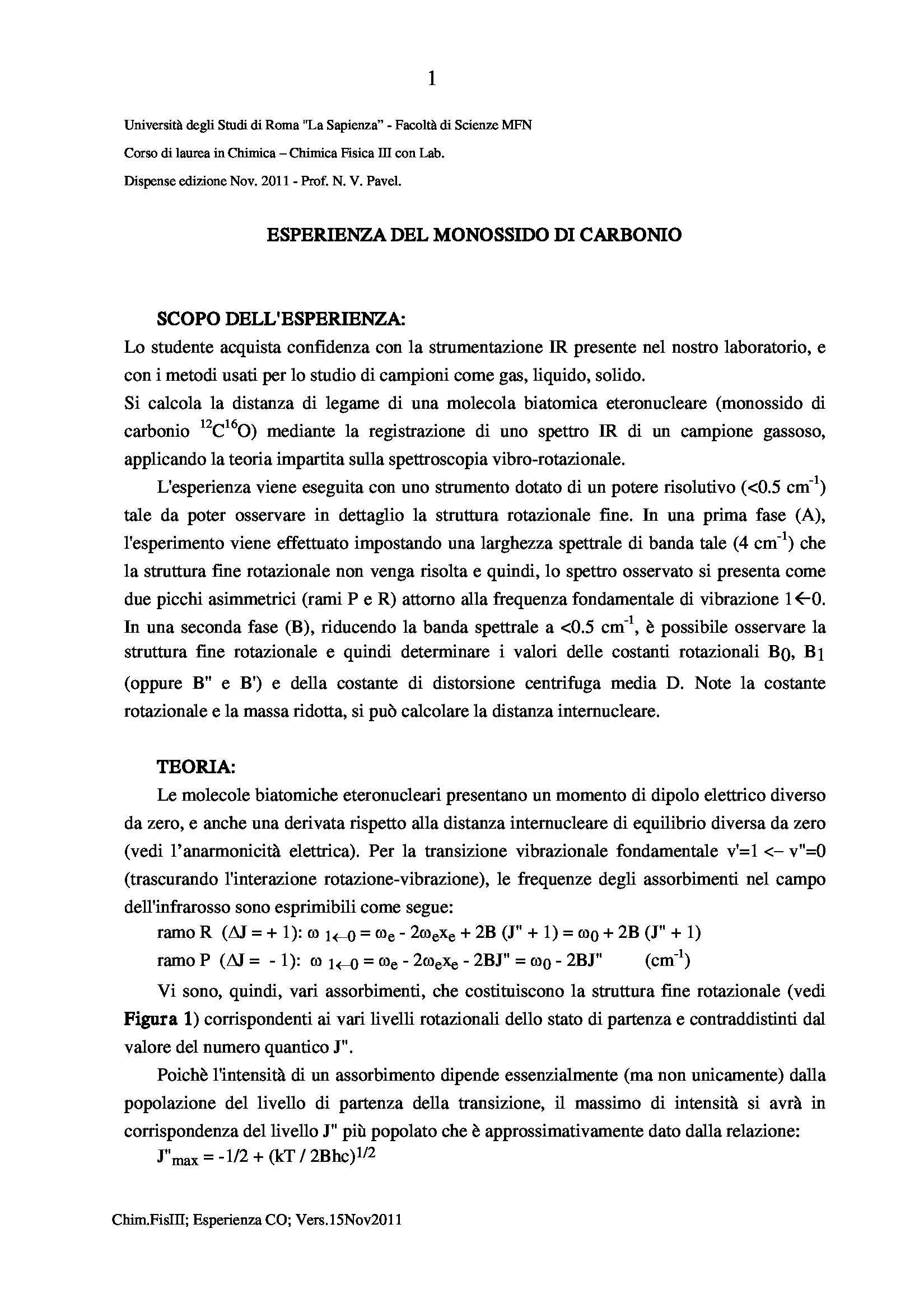 dispensa N. Pavel Chimica fisica III con laboratorio