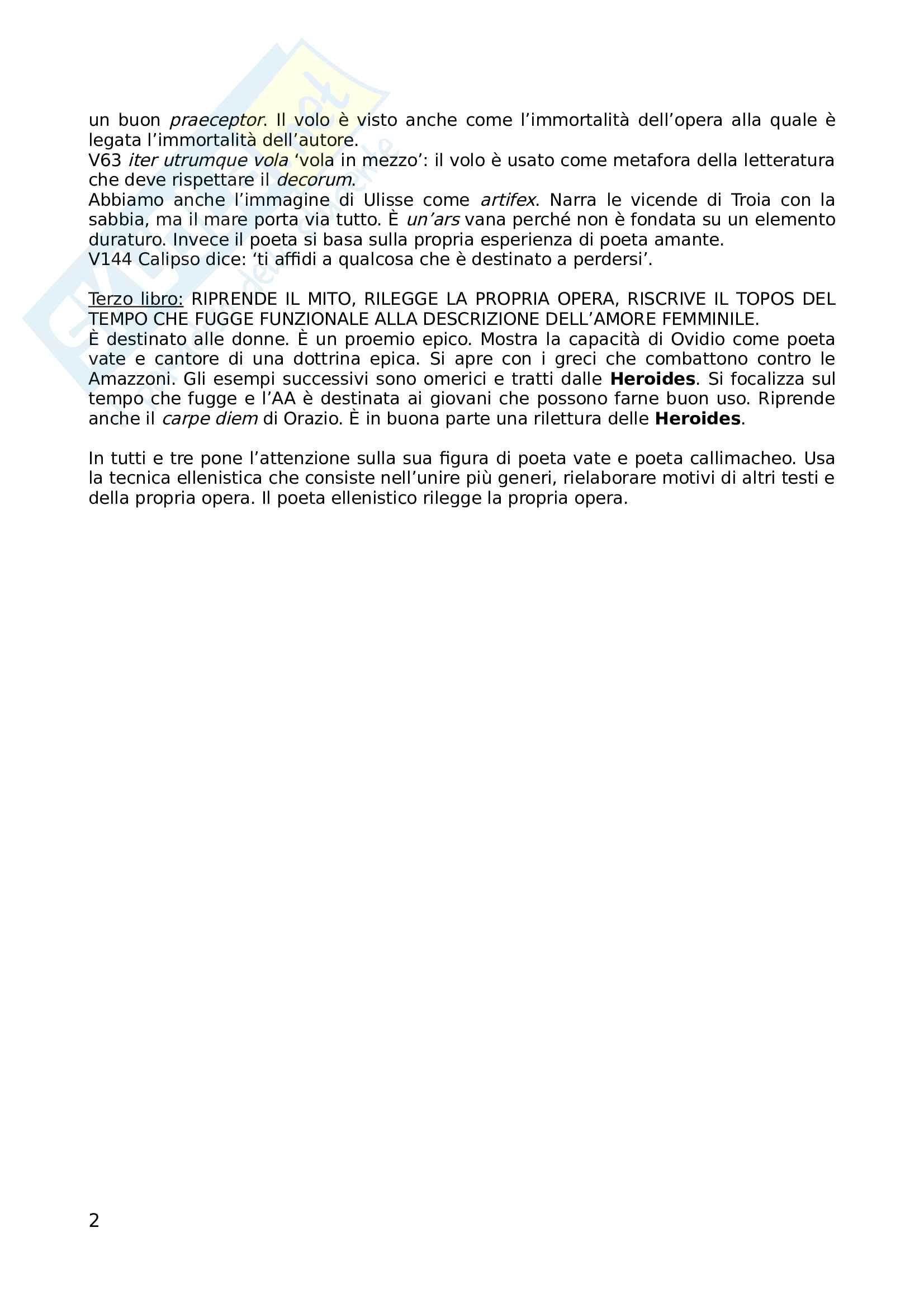 Ovidio e l Ars Amatoria Pag. 2