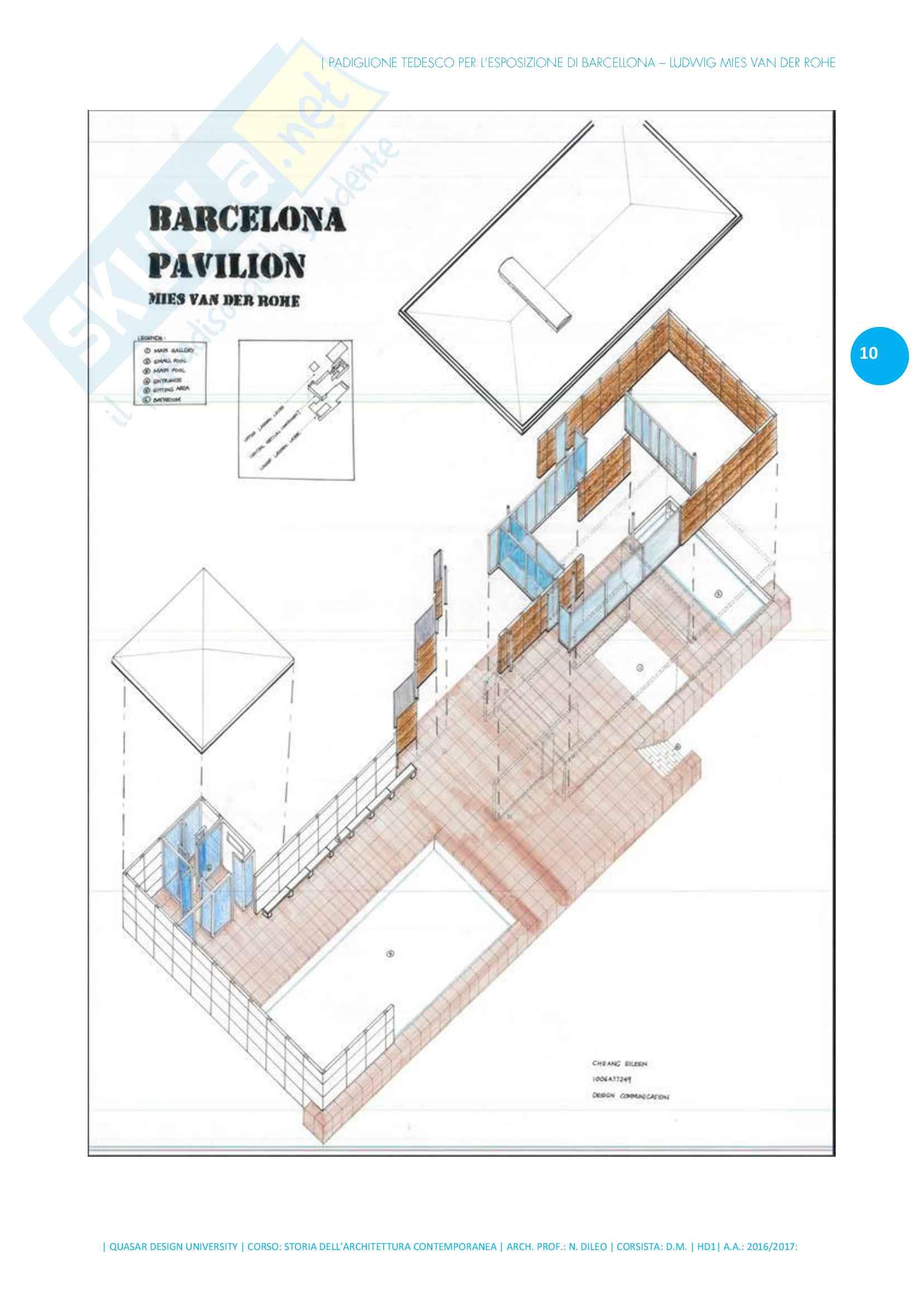 Forma tettonica dell'architettura - Padiglione Barcellona di Ludwig Mies van der Rohe - Storia dell'architettura contemporanea Pag. 11