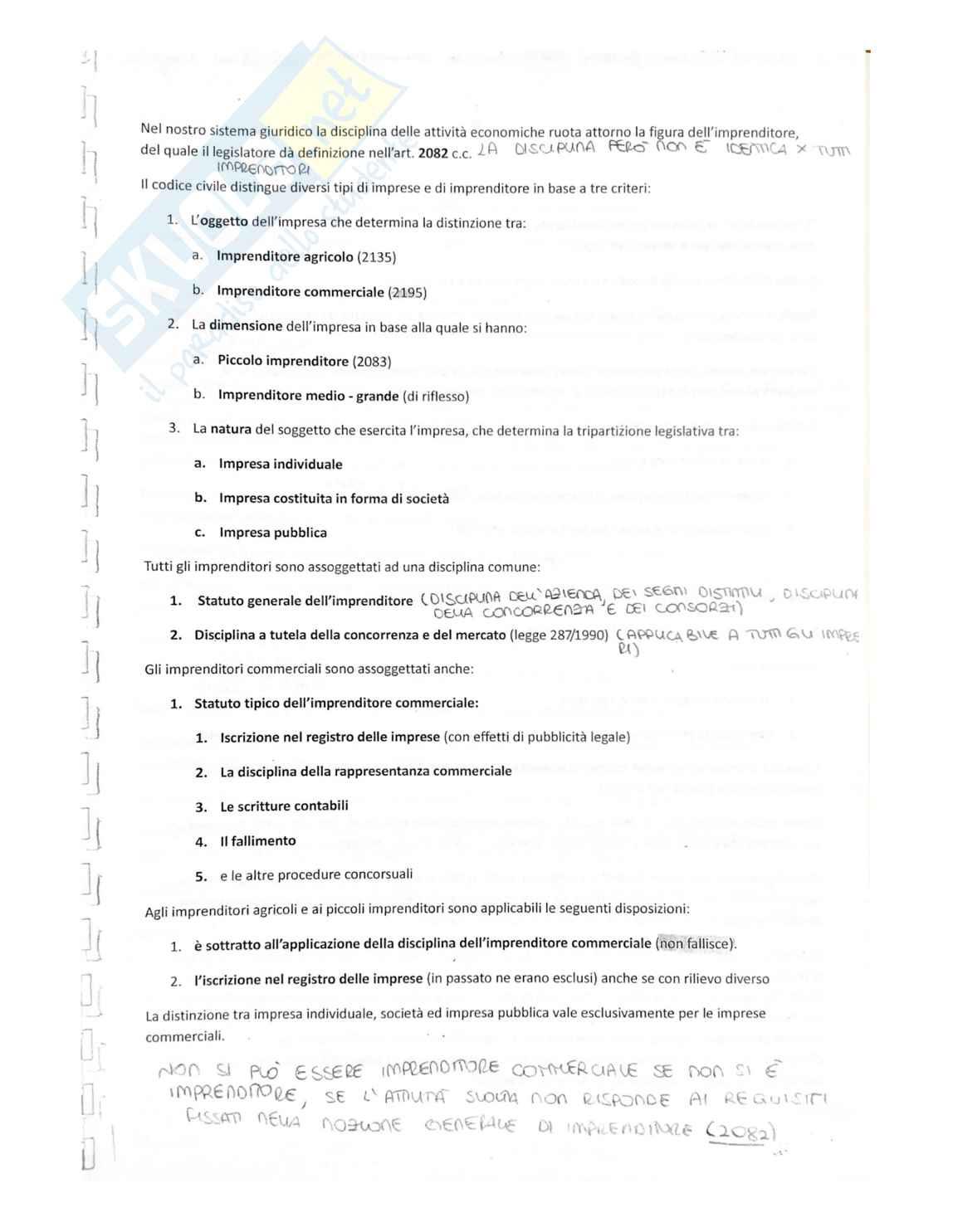 """Riassunto Diritto Commerciale prof Gimigliano/Corvese, libro consigliato """"Manuale di diritto commerciale"""", Campobasso."""