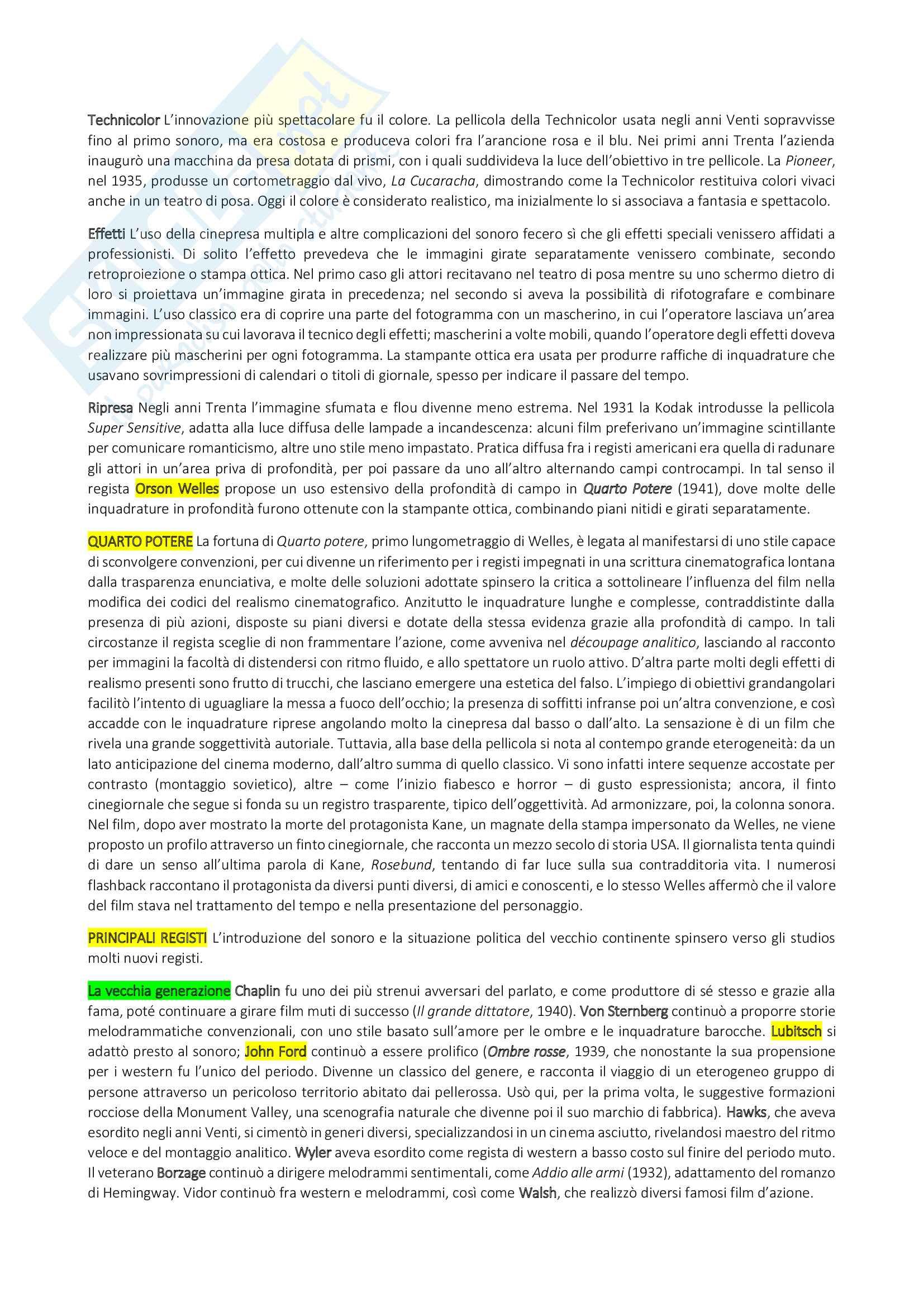 Riassunto Storia del cinema, prof. Bruni, libro consigliato Storia del cinema, un'introduzione di Thompson, Bordwell, Bruni Pag. 16