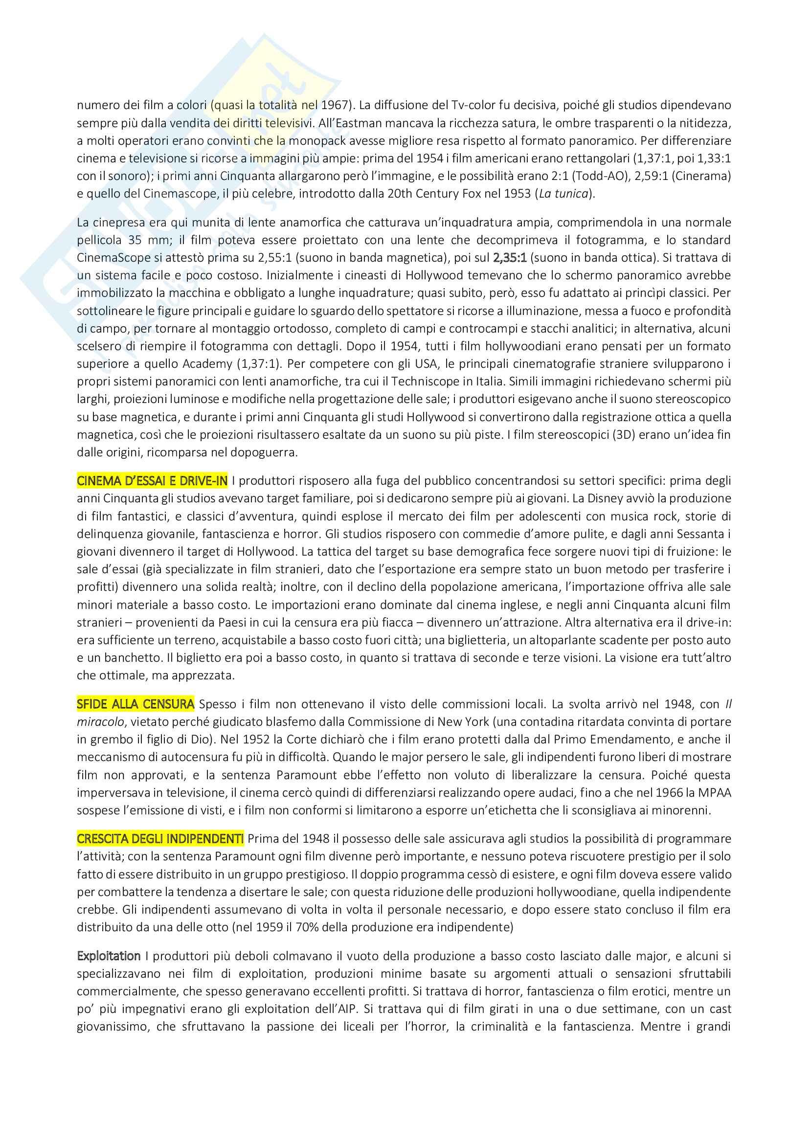 Riassunto Storia del cinema, prof. Bruni, libro consigliato Storia del cinema, un'introduzione di Thompson, Bordwell, Bruni Pag. 21