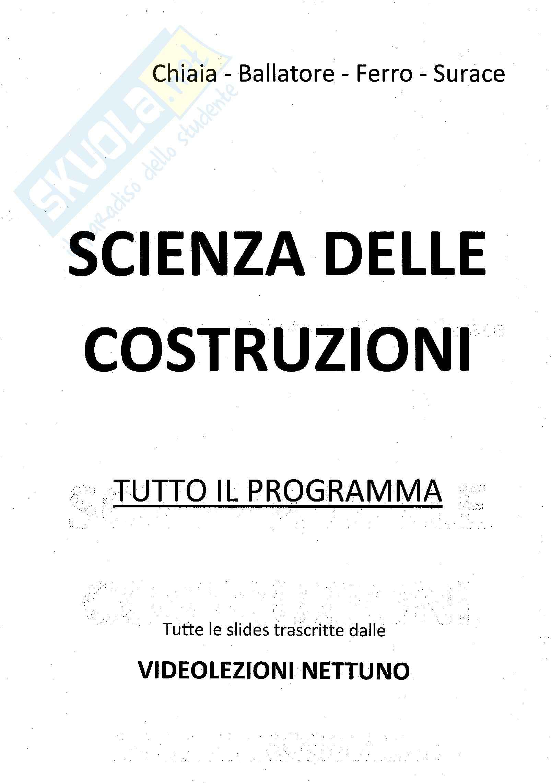 Scienza delle costruzioni - Appunti