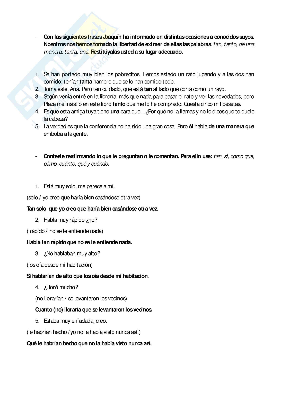 Lingua spagnola 2 - Esercizi