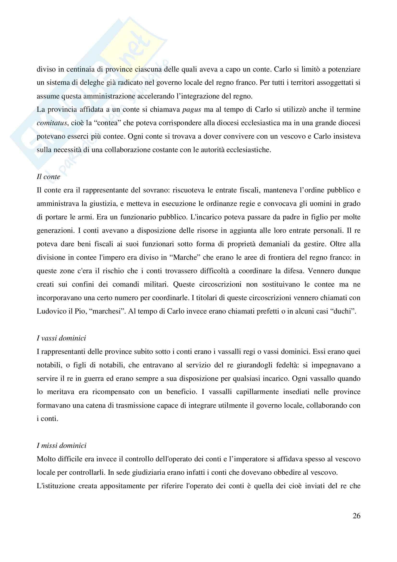 Riassunto esame Storia Medievale Carlo Magno, prof. Comba, libro consigliato Un padre dell'Europa, Barbero Pag. 26