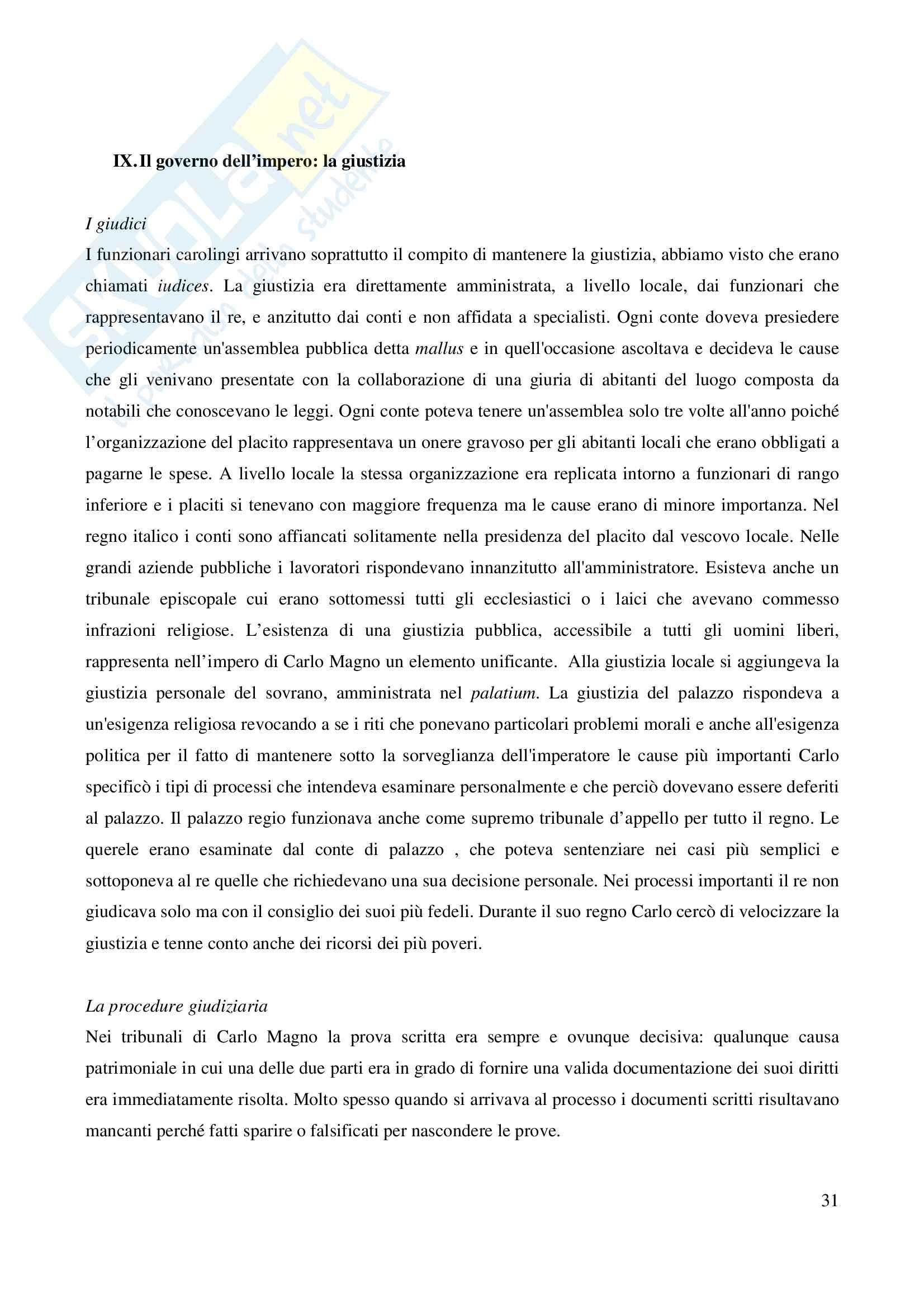 Riassunto esame Storia Medievale Carlo Magno, prof. Comba, libro consigliato Un padre dell'Europa, Barbero Pag. 31