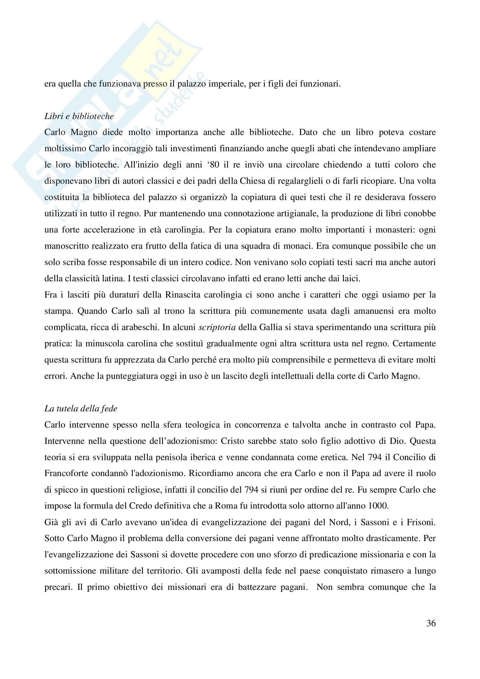 Riassunto esame Storia Medievale Carlo Magno, prof. Comba, libro consigliato Un padre dell'Europa, Barbero Pag. 36