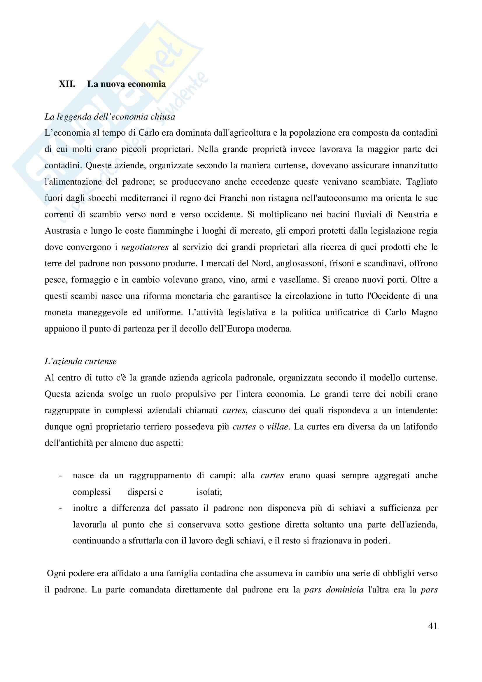 Riassunto esame Storia Medievale Carlo Magno, prof. Comba, libro consigliato Un padre dell'Europa, Barbero Pag. 41