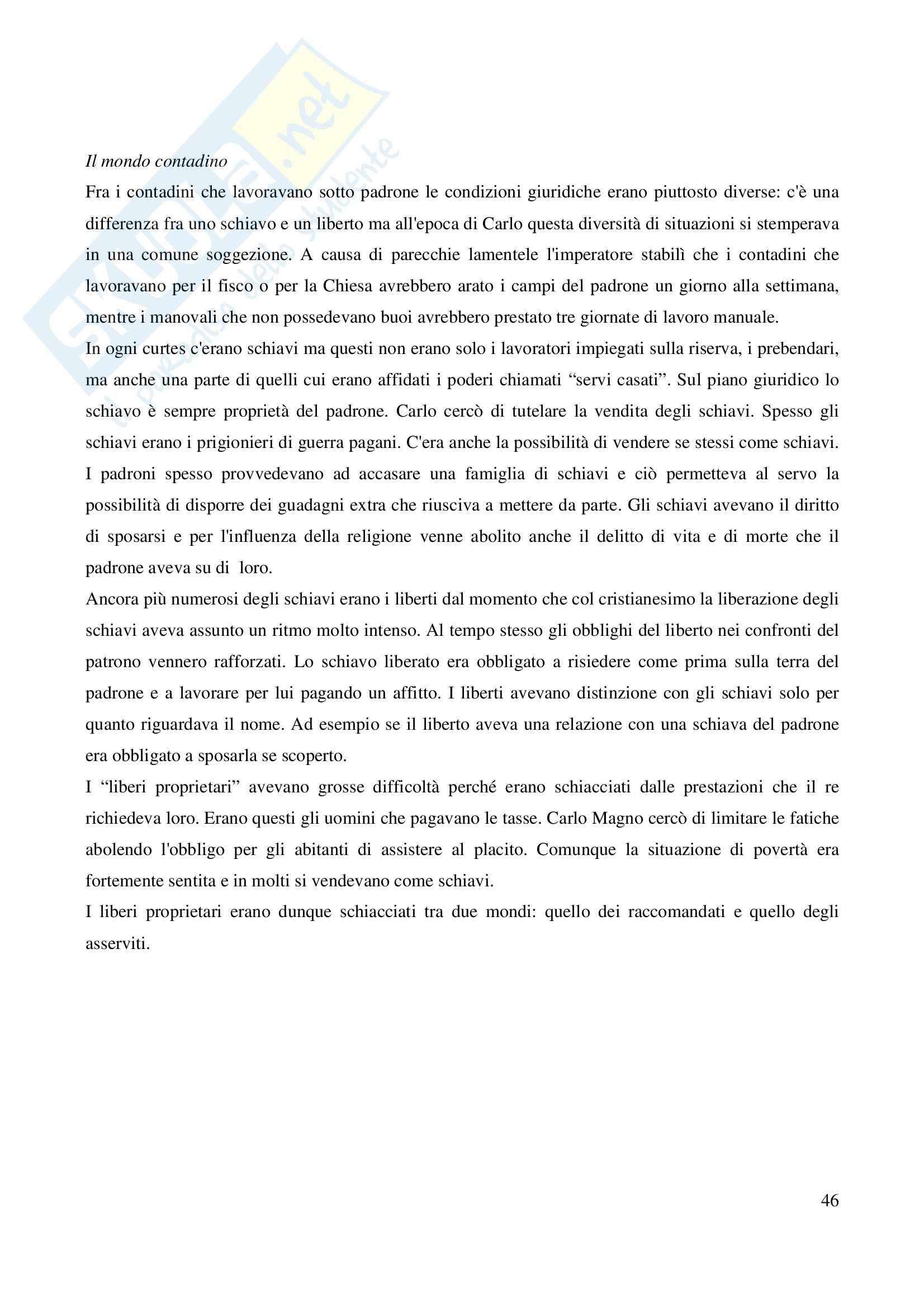 Riassunto esame Storia Medievale Carlo Magno, prof. Comba, libro consigliato Un padre dell'Europa, Barbero Pag. 46