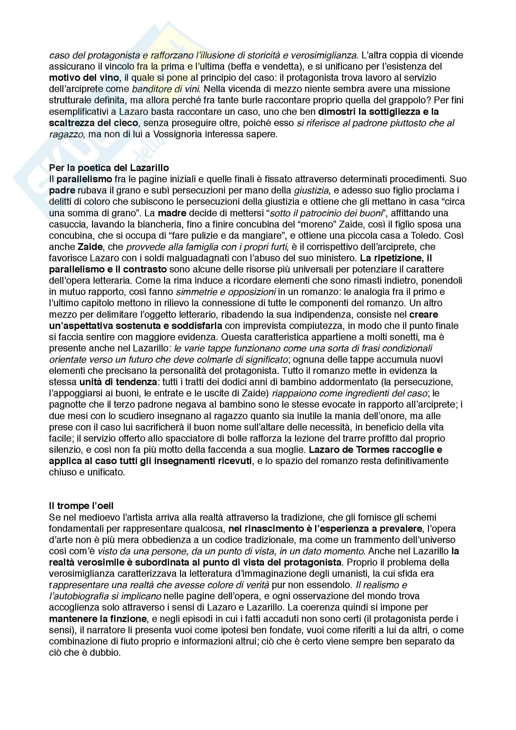 Riassunto esame Letteratura Spagnola, prof. Poggi Cappelli, libro consigliato Il romanzo picaresco e il punto di vista, Francesco Rico Pag. 2