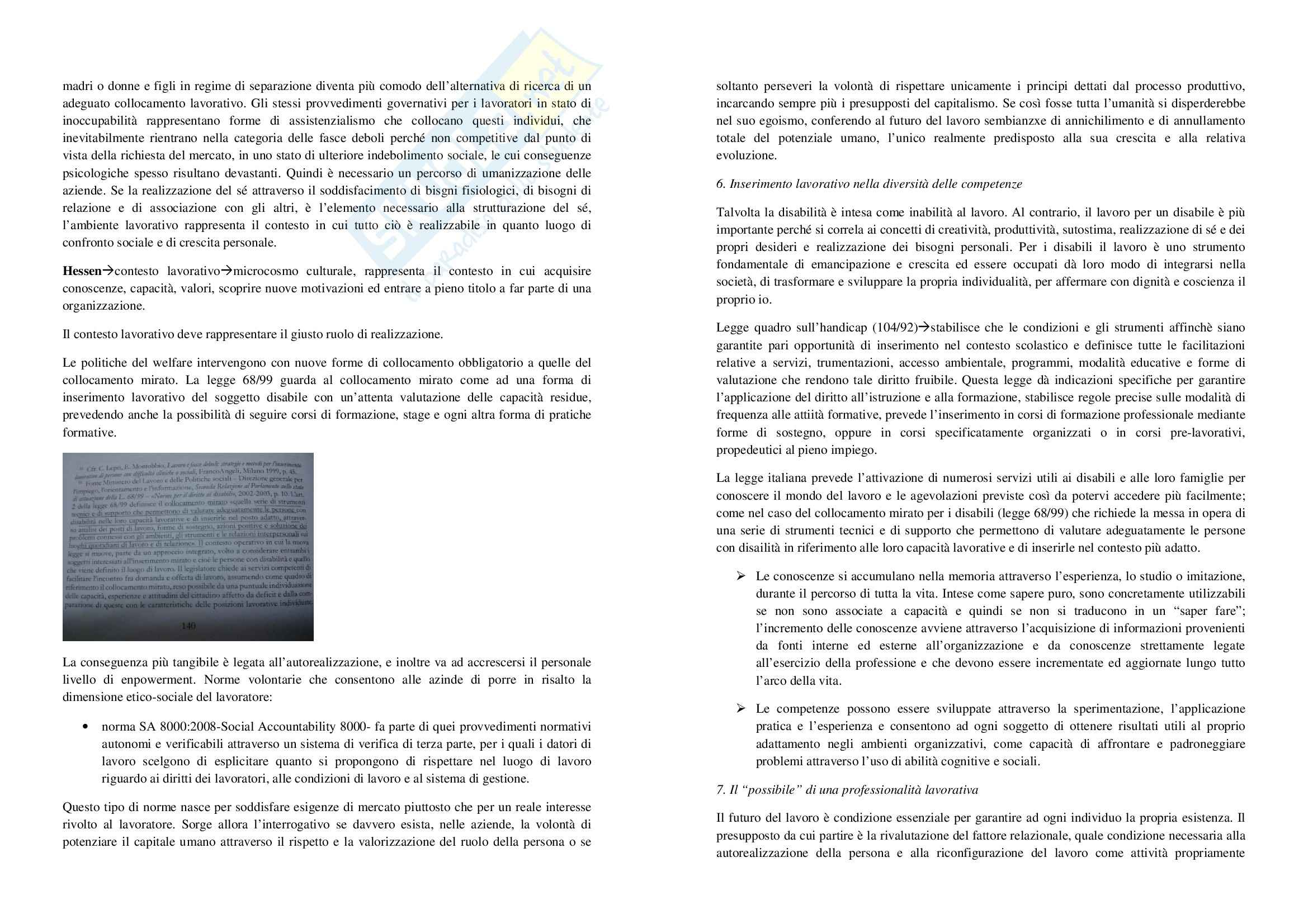 Riassunto esame Pedagogia Speciale, prof. Elia, libro consigliato Questioni di Pedagogia Speciale, Elia Pag. 21
