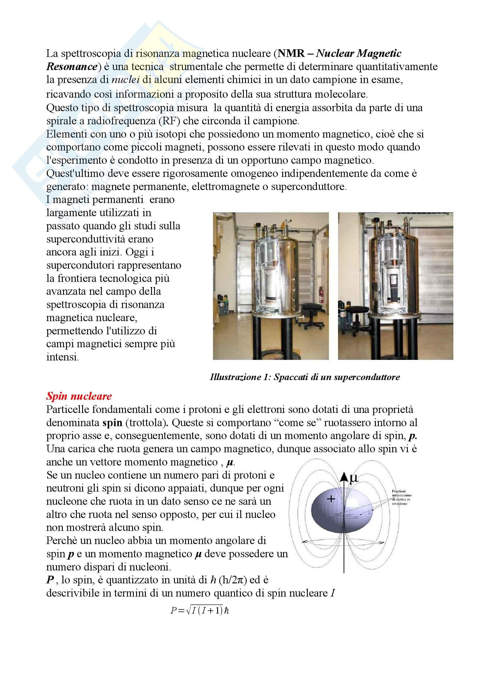 Chimica organica - NMR, spettroscopia di risonanza magnetica nucleare