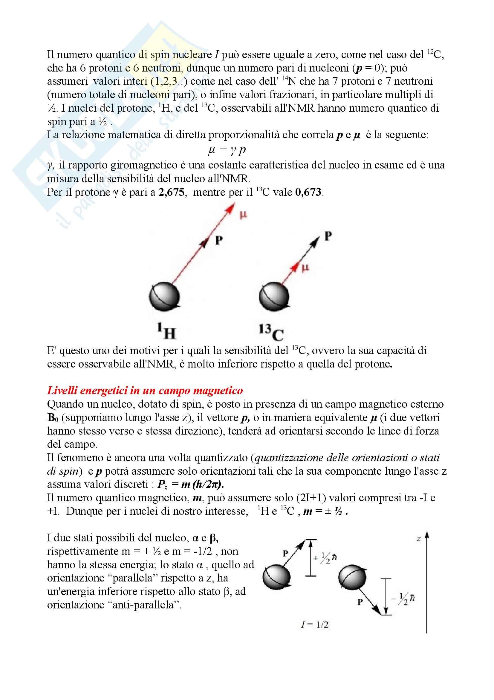 Chimica organica - NMR, spettroscopia di risonanza magnetica nucleare Pag. 2