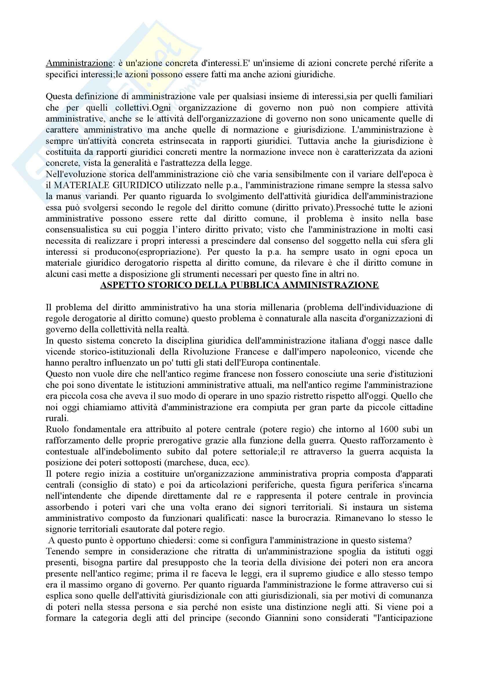 Diritto amministrativo. Nozioni essenziali - Riassunto esame, prof. Cerulli