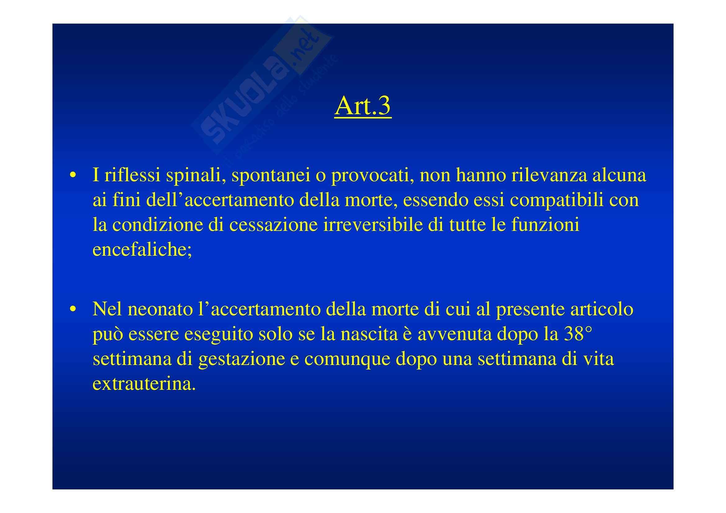 Morte cerebrale e donazione d'organo Pag. 36