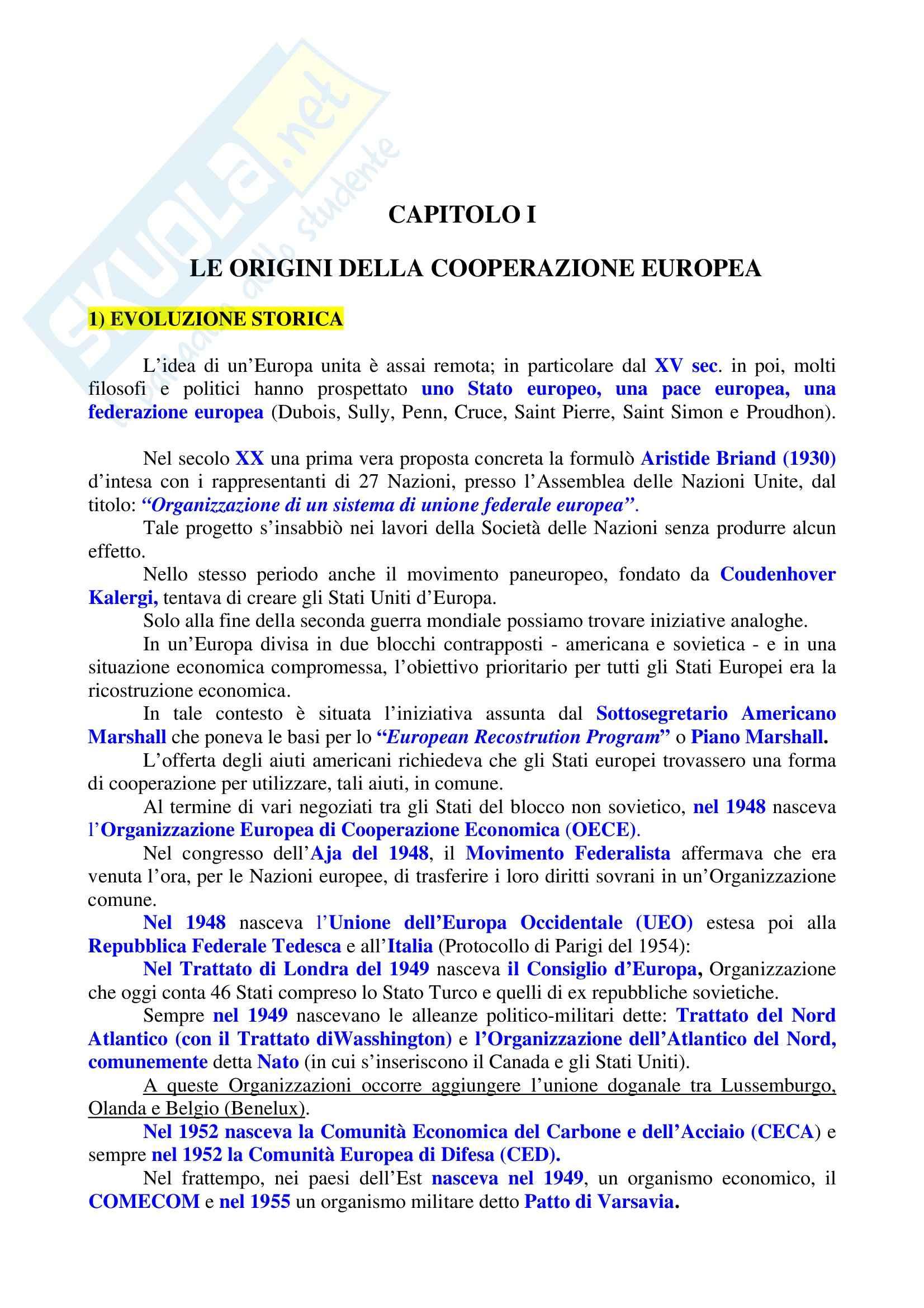 Riassunto esame Diritto dell'Unione Europea, prof. Sinagra, libro consigliato Istituzioni di Diritto dell'Unione Europea, Zanghì