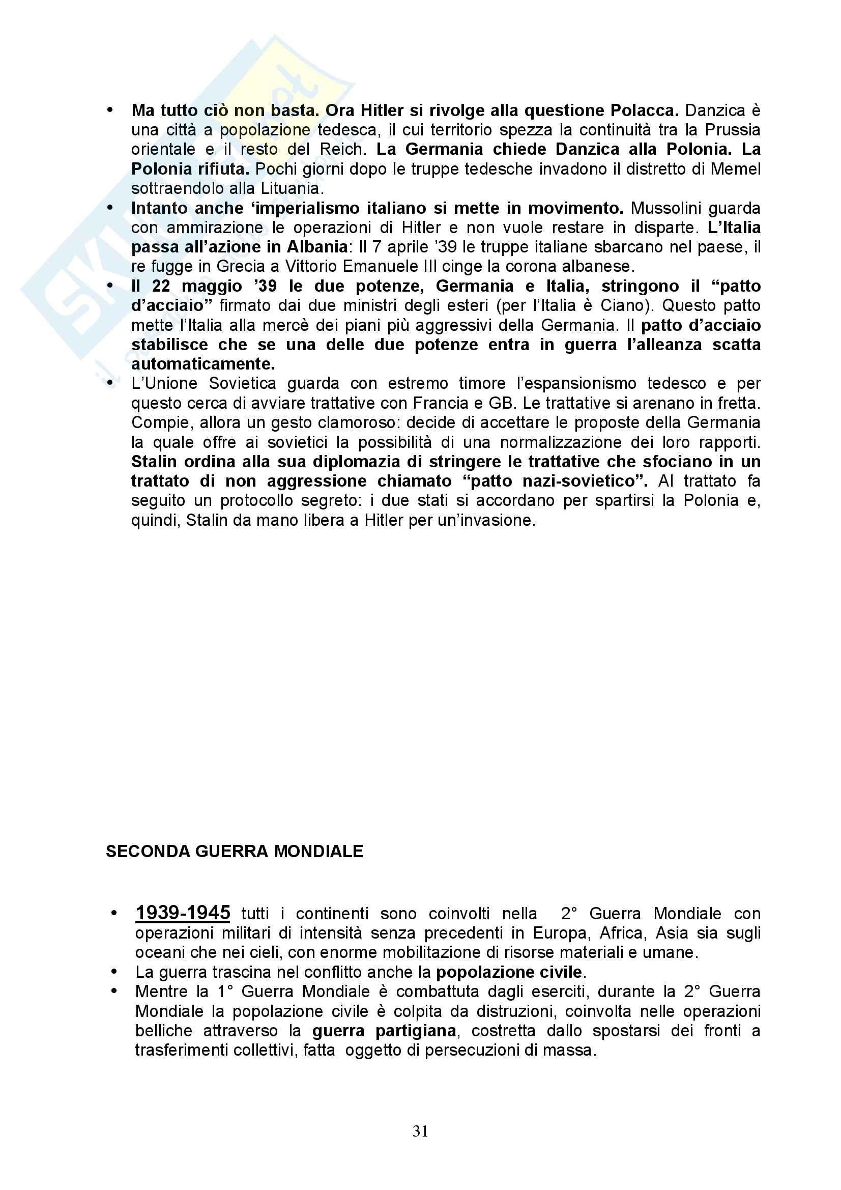 Storia Contemporanea - Italia nell'800 e 900 Pag. 31