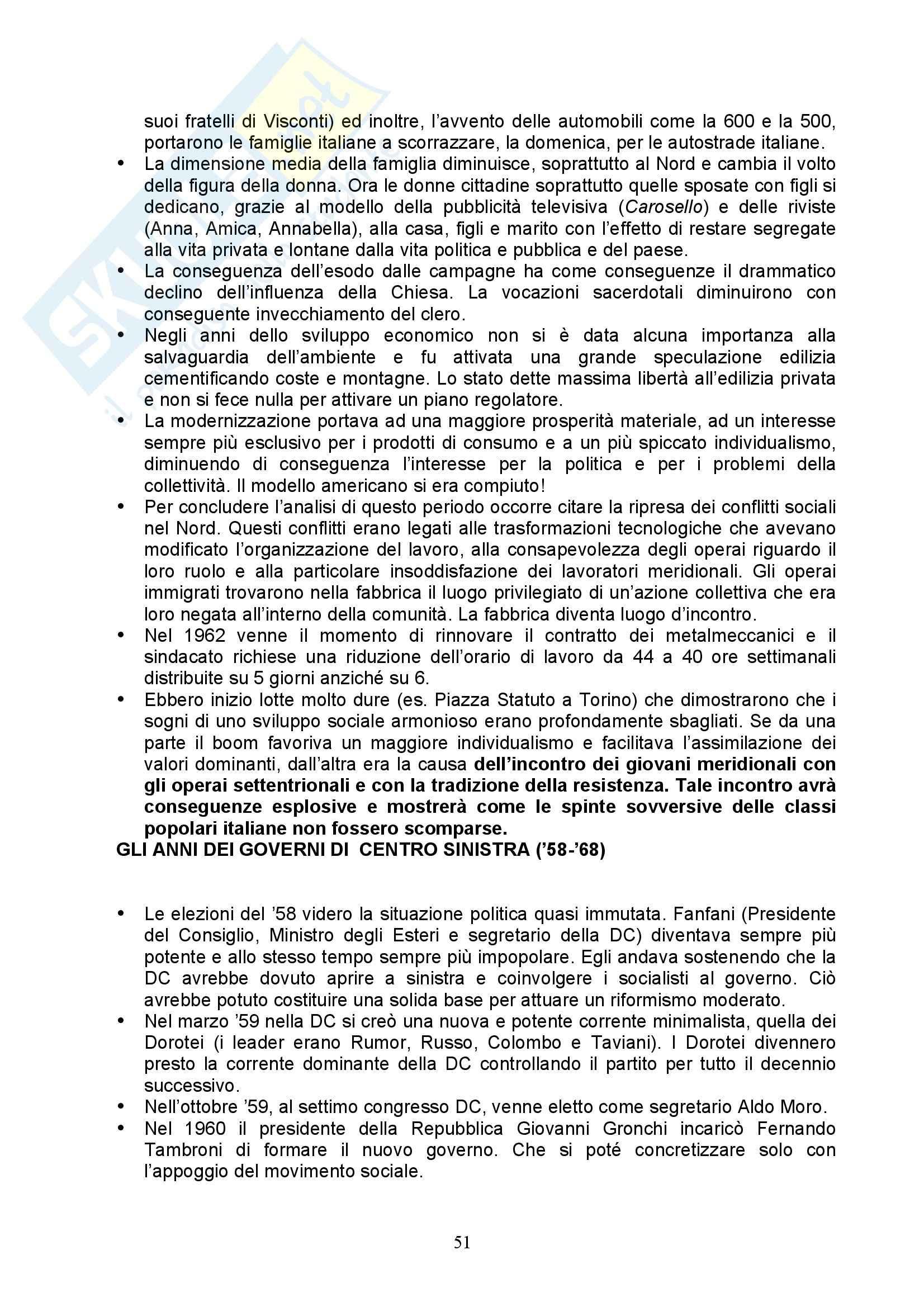 Storia Contemporanea - Italia nell'800 e 900 Pag. 51