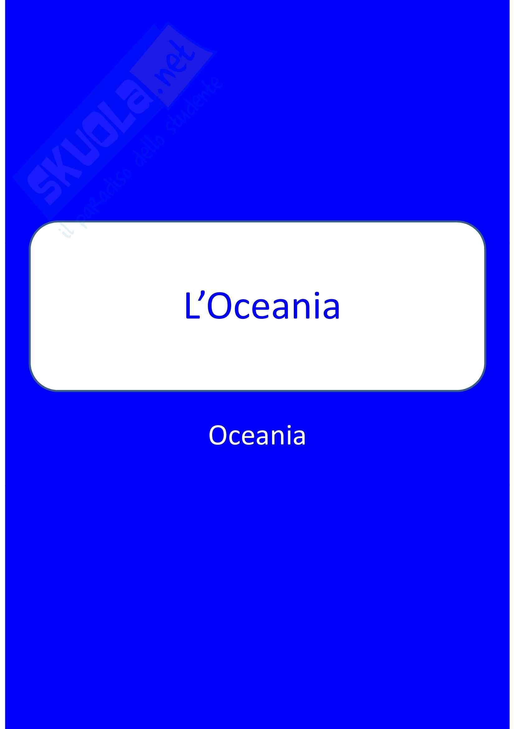 L'Oceania - Australia