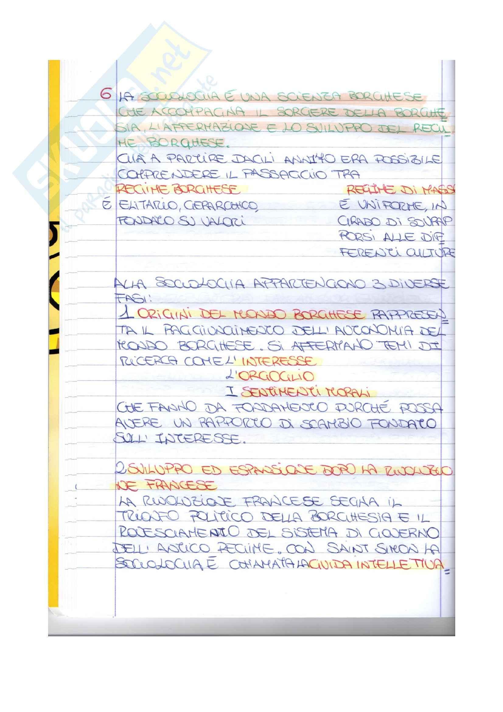 Riassunto esame Sociologia generale, prof. Truda, libro consigliato Elementi di sociologia, Mongardini Pag. 6