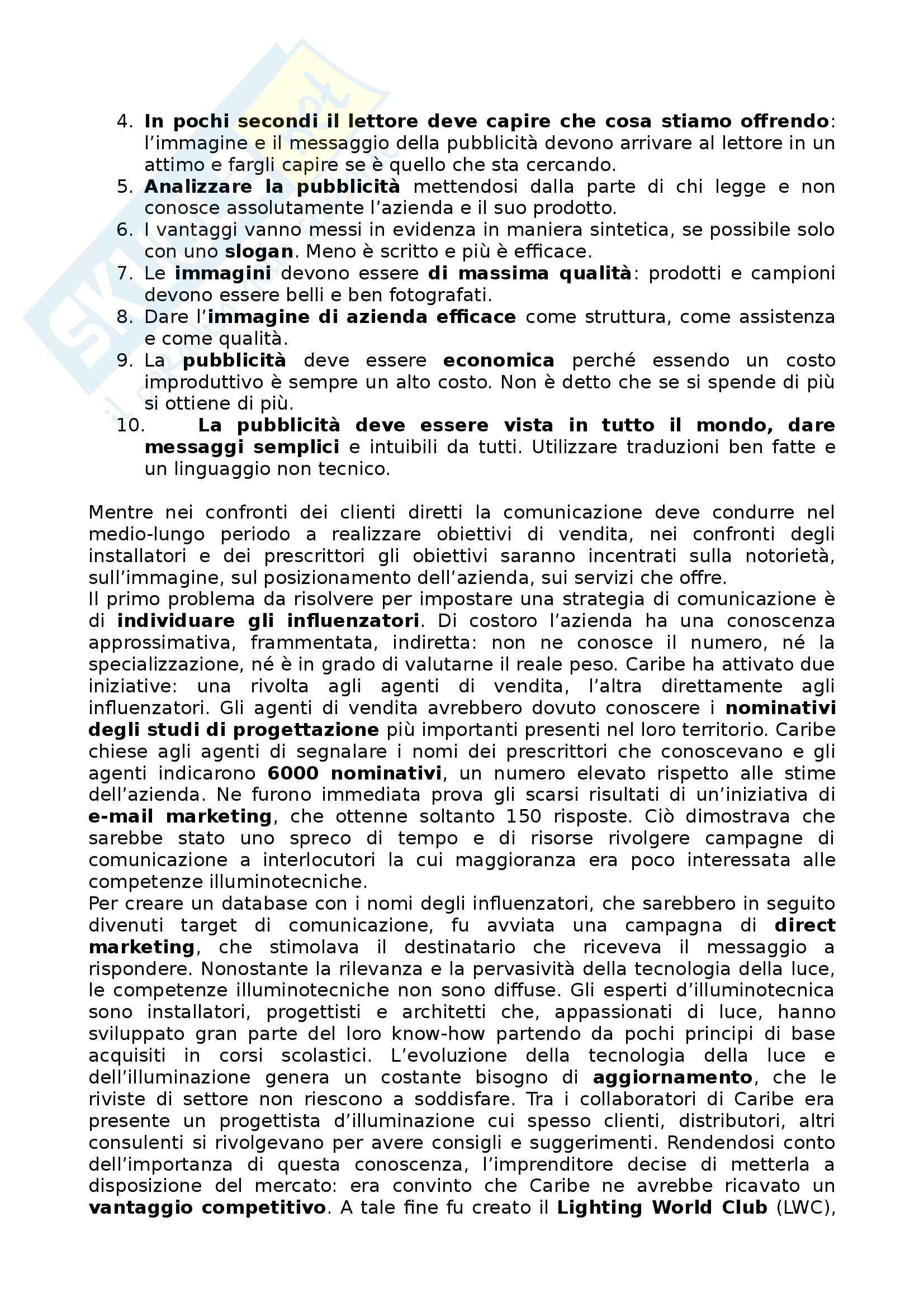 Riassunto esame Marketing, prof. Mauri, libro consigliato Il Marketing per le PMI Pag. 31