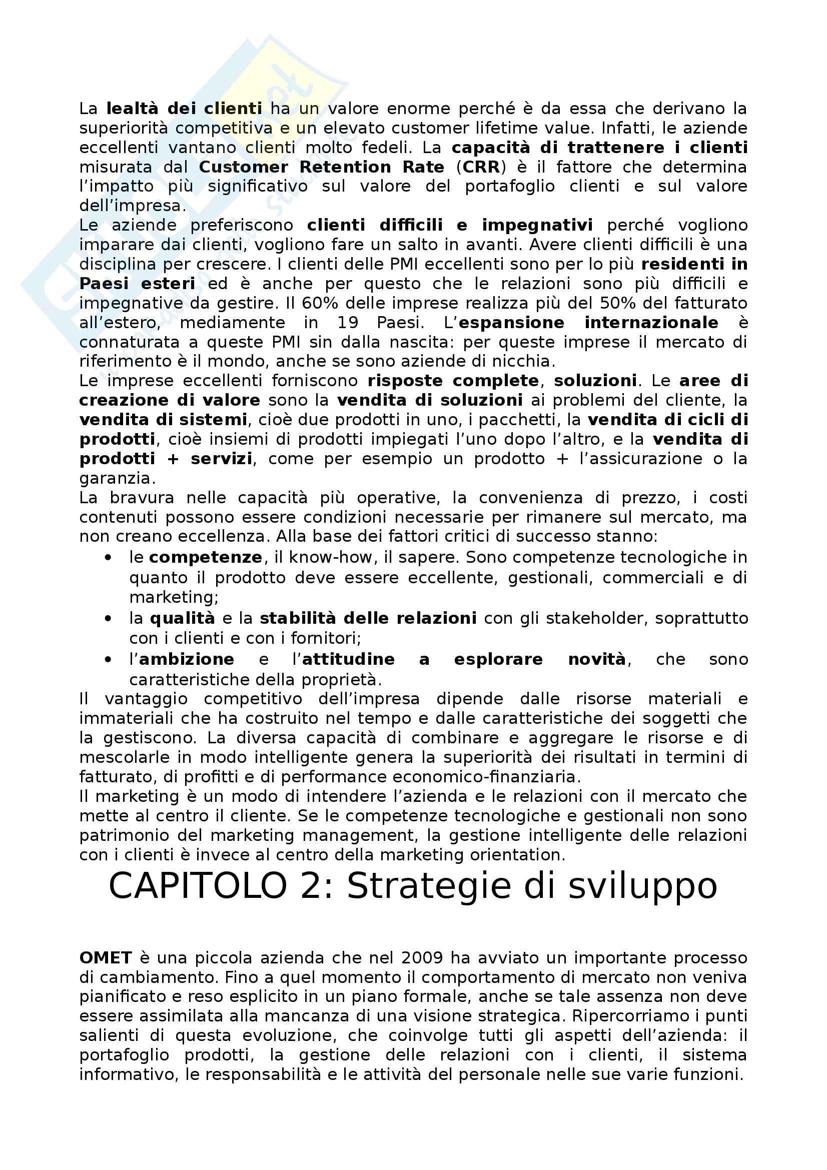 Riassunto esame Marketing, prof. Mauri, libro consigliato Il Marketing per le PMI Pag. 6