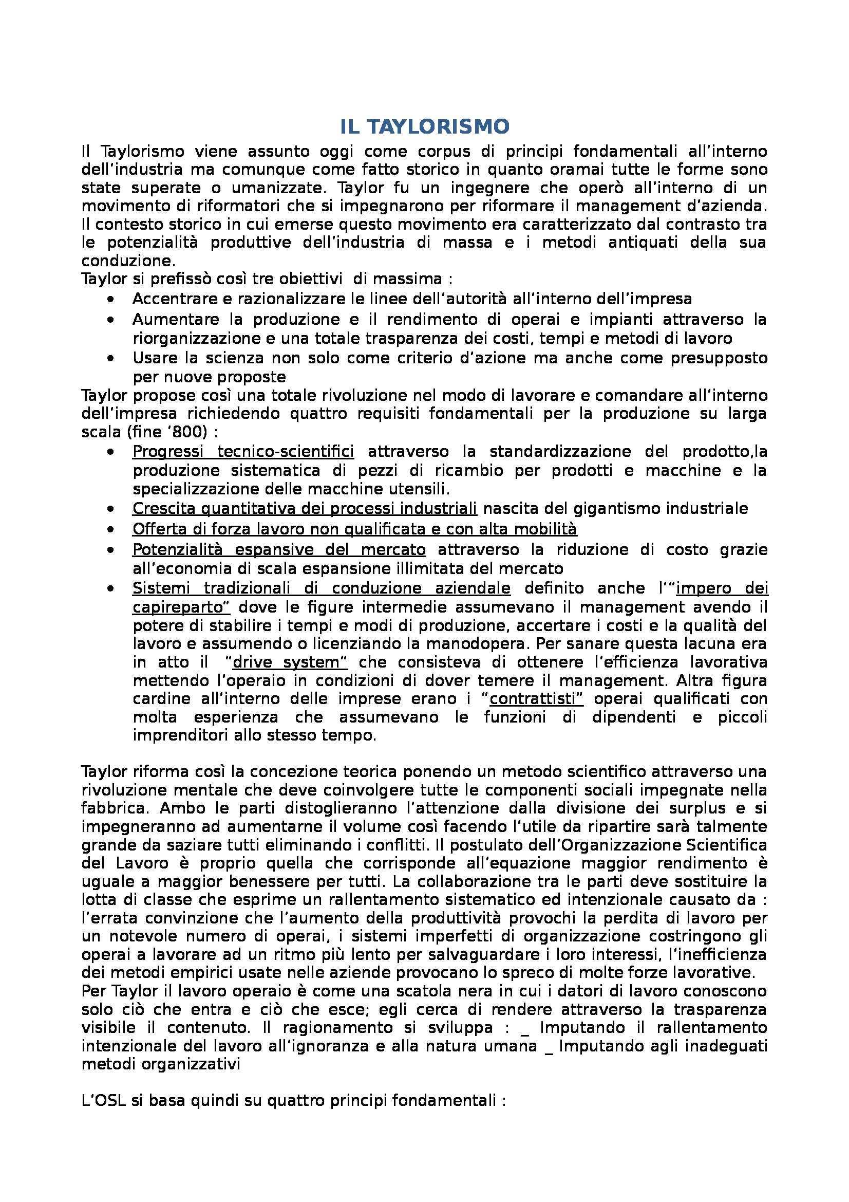 appunto N. Carboni Organizzazione aziendale