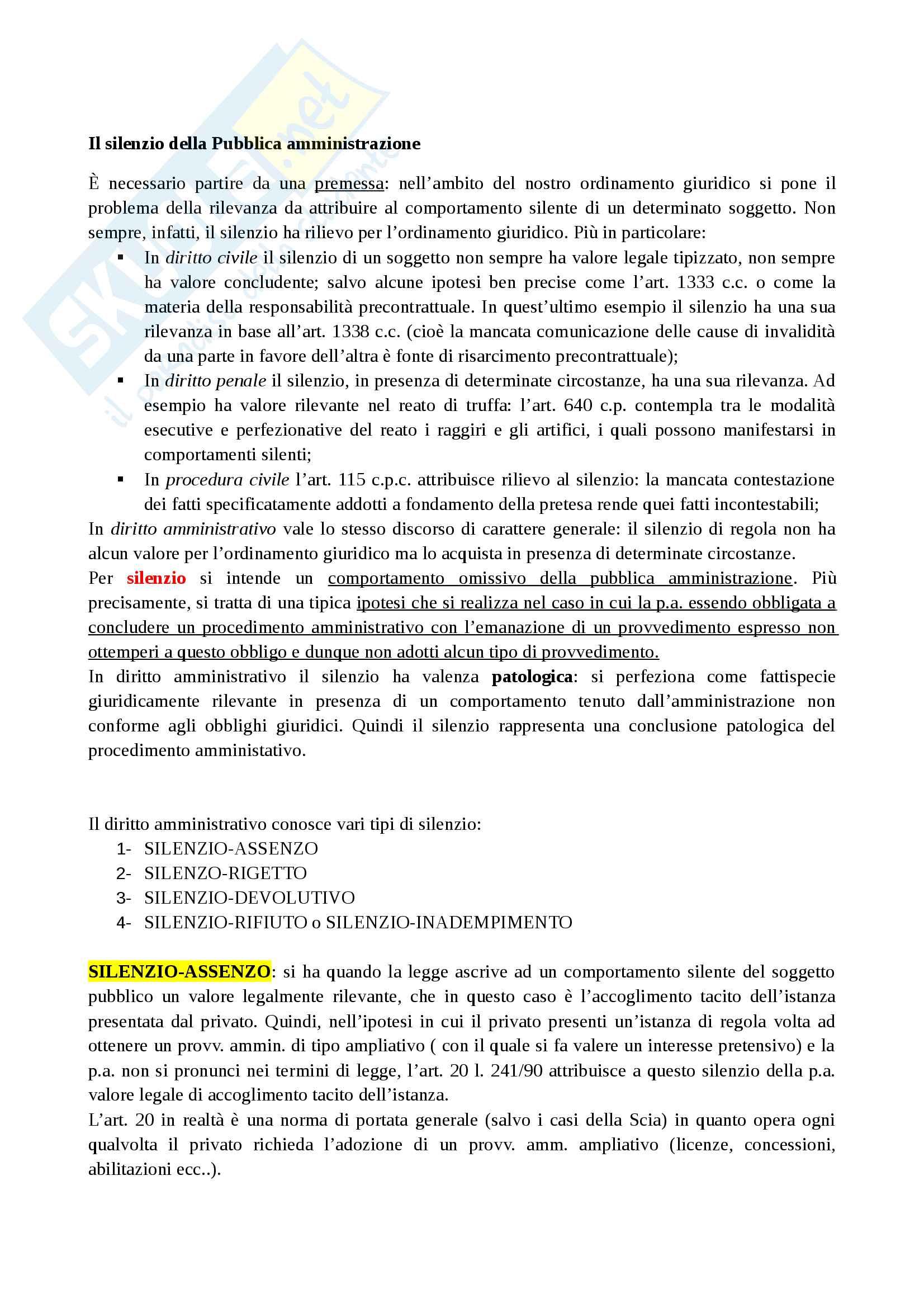 appunto P. Giurisprudenza Diritto amministrativo