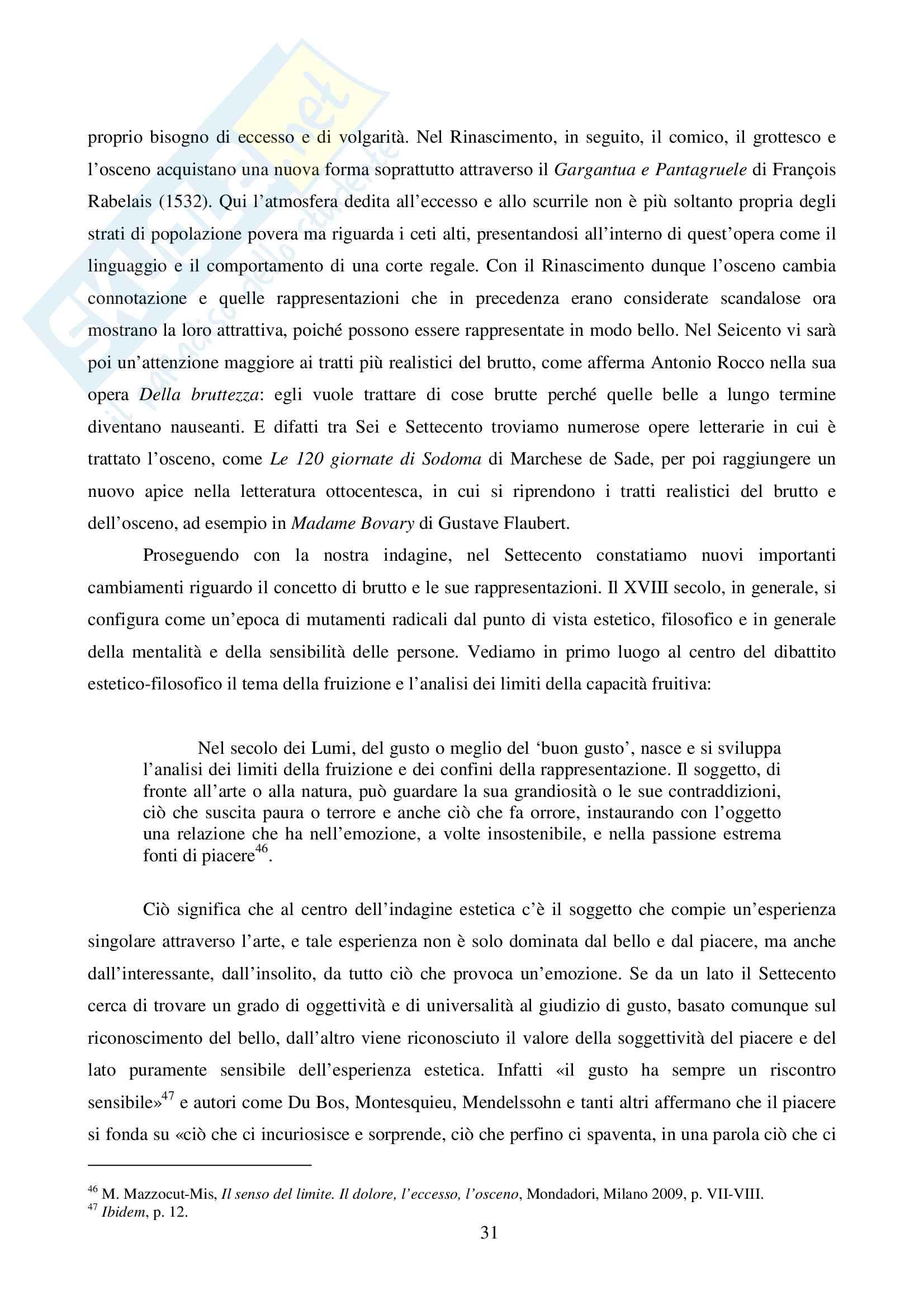 Tesi Magistrale in Scienze Filosofiche: Il piacere del disgusto Pag. 31