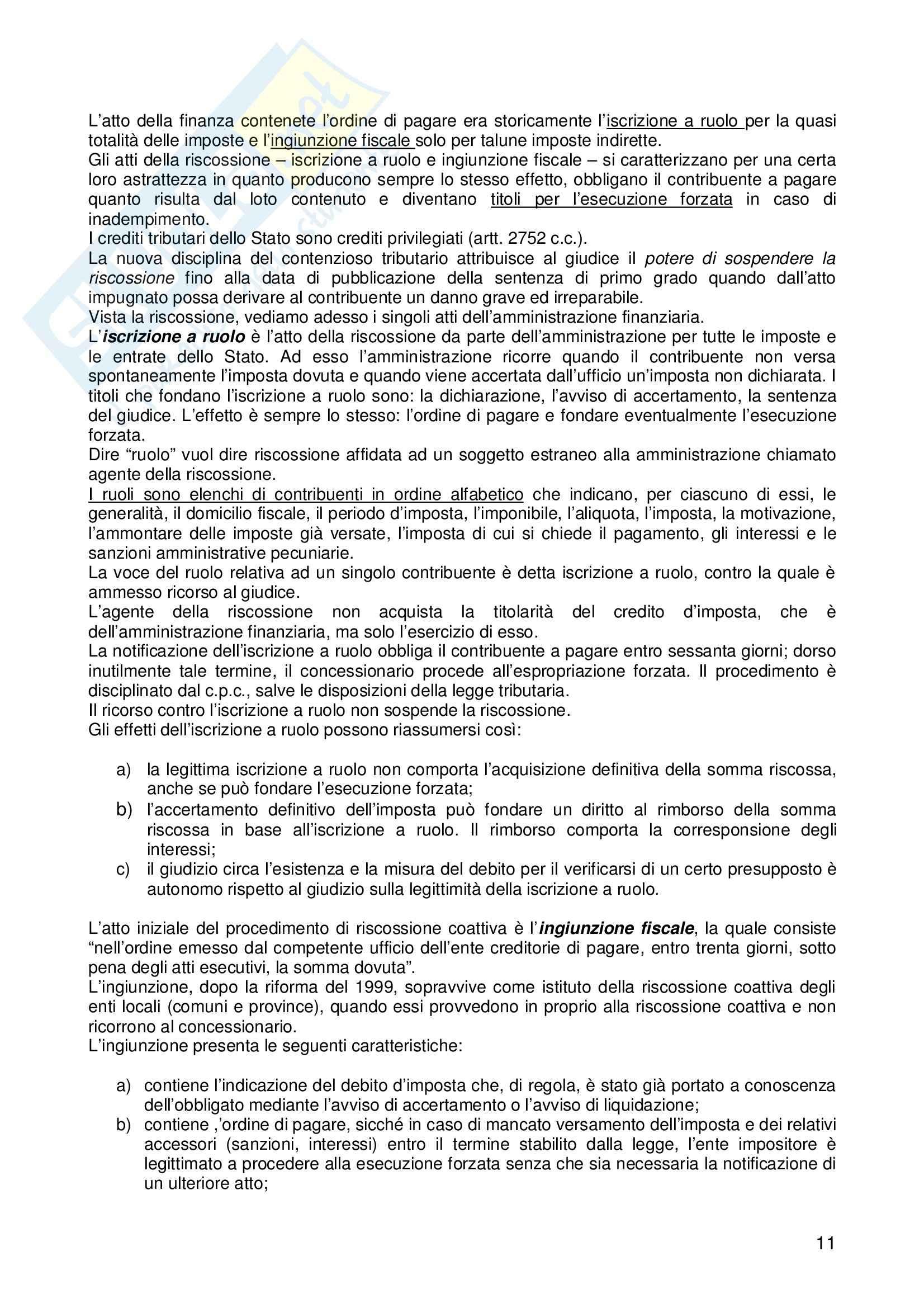 Riassunto esame Diritto, prof. Logozzo, libro consigliato Diritto tributario, De Mita Pag. 11