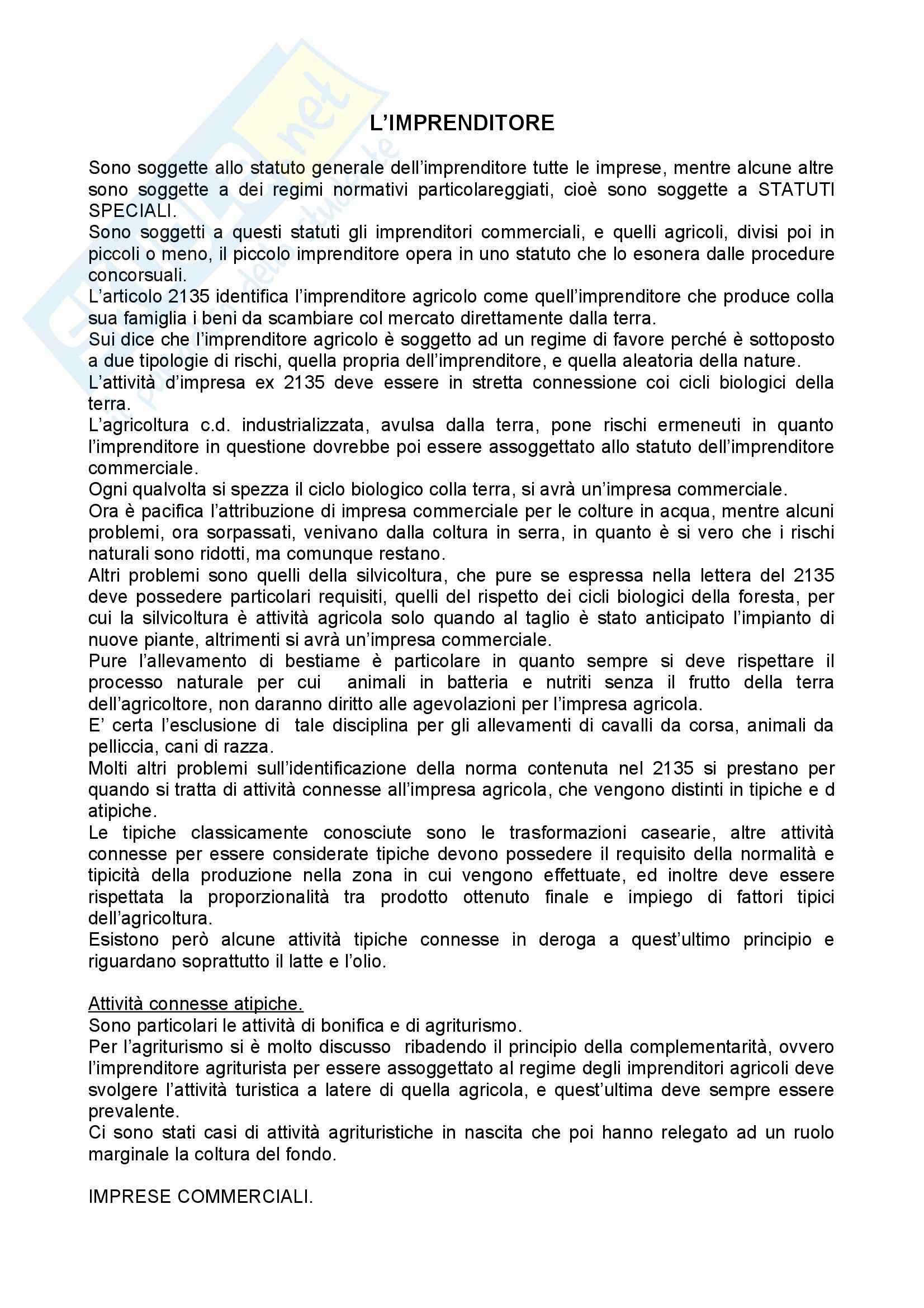 Riassunto esame Diritto Commerciale, prof. Angelici, libro consigliato Manuale di Diritto Commerciale, Campobasso