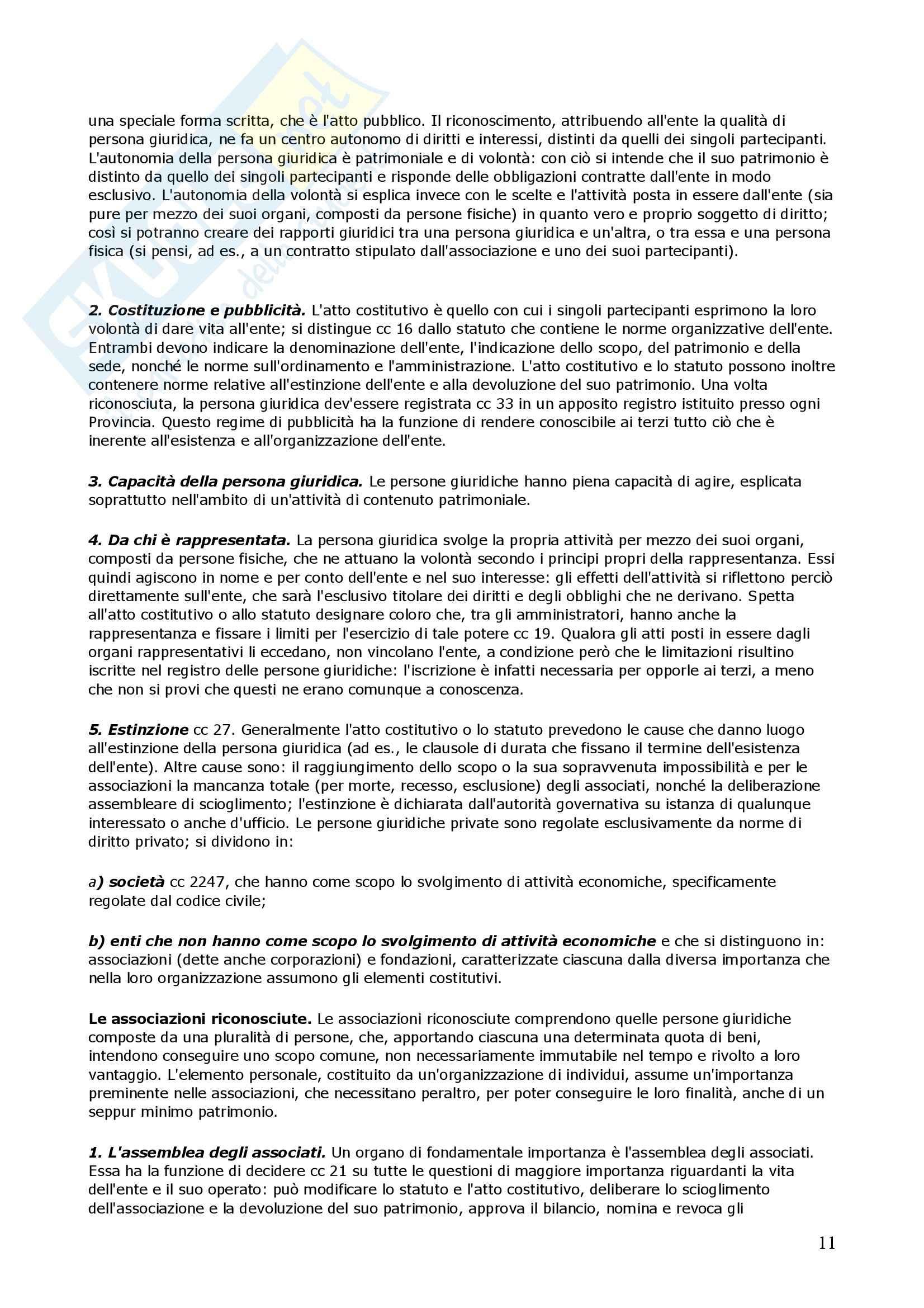 Riassunto esame Diritto Privato, prof. Di Gravio, libro consigliato Diritto Privato, Torrente Pag. 11