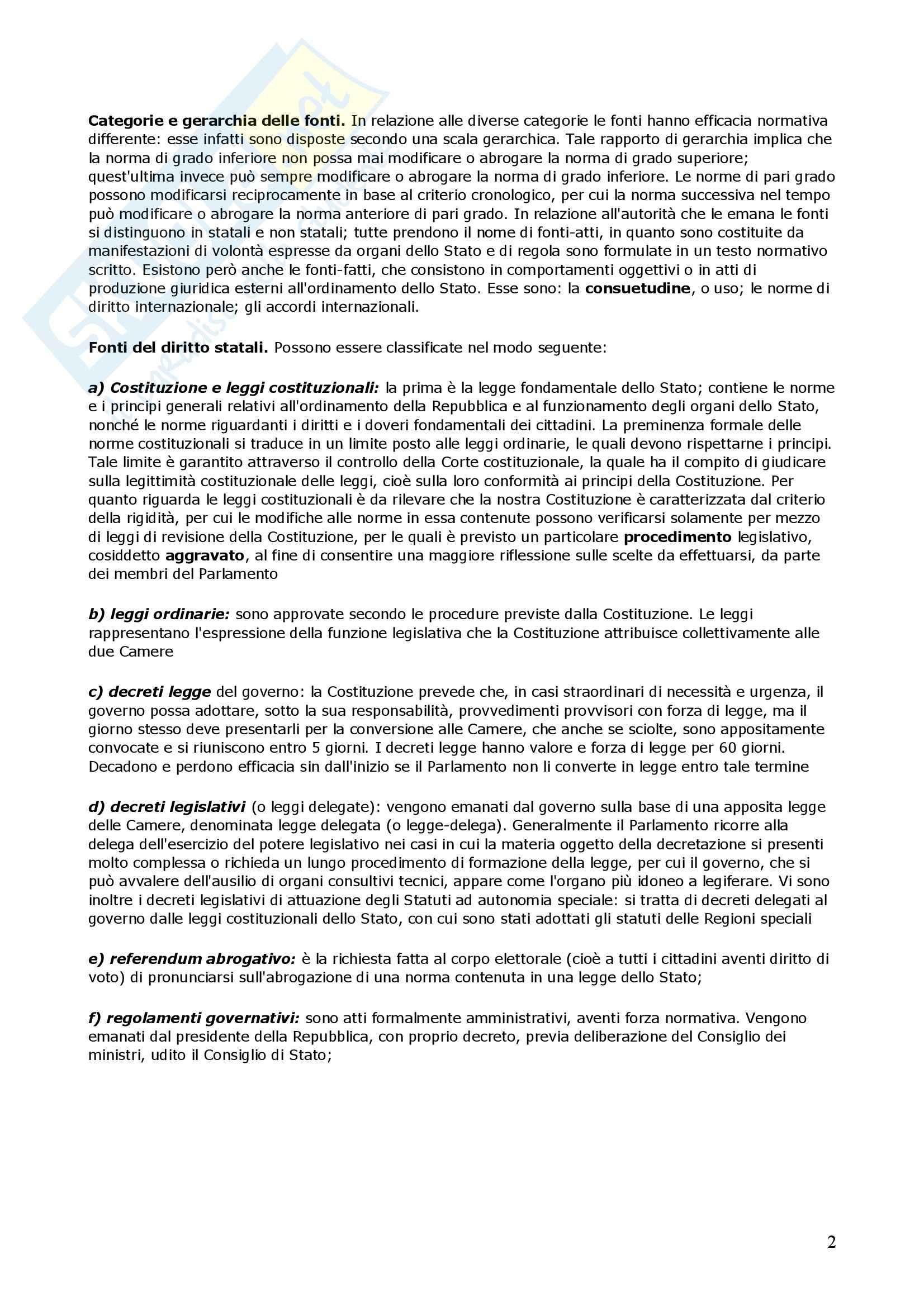 Riassunto esame Diritto Privato, prof. Di Gravio, libro consigliato Diritto Privato, Torrente Pag. 2