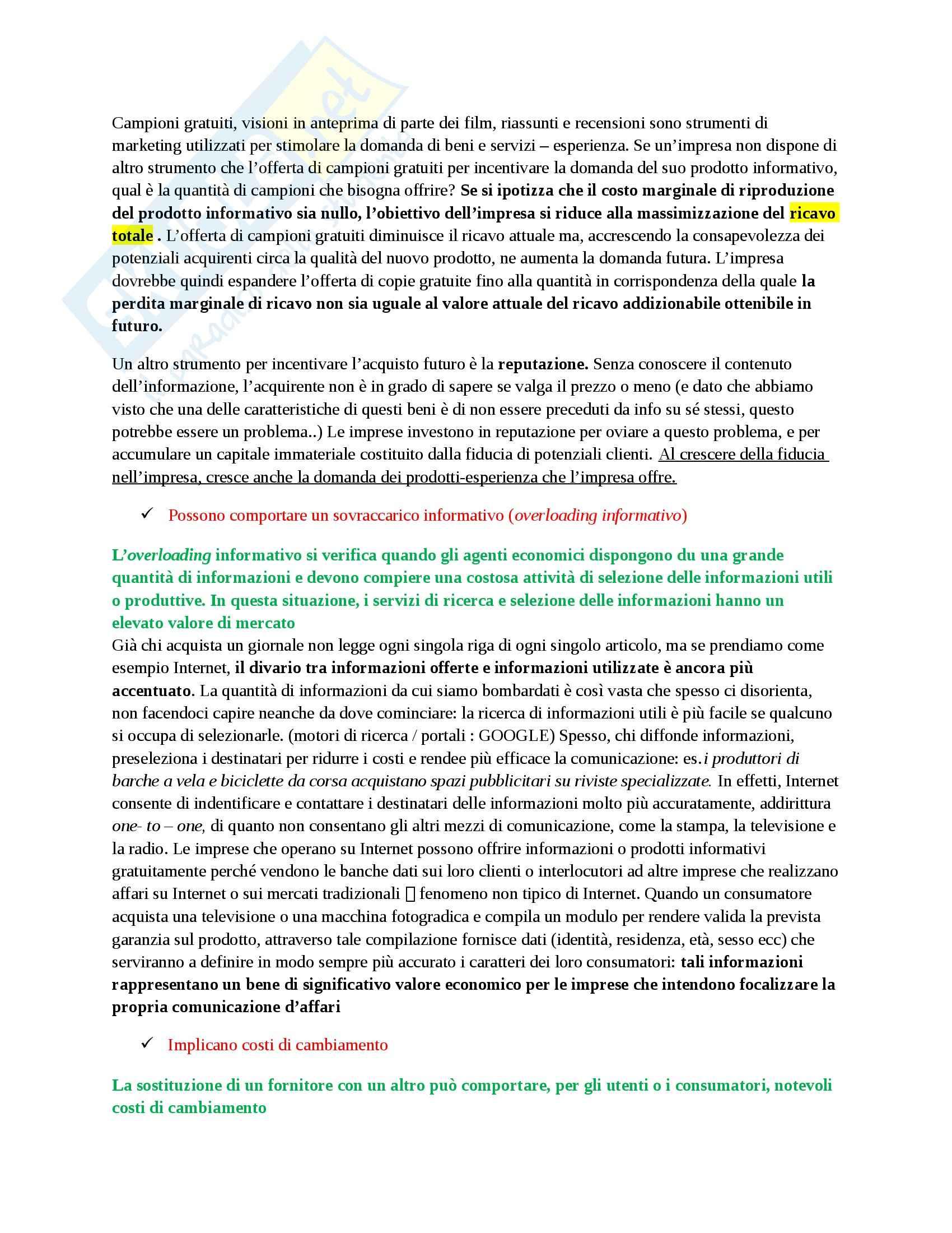 Riassunto esame Economia dei Media, prof. Barbarito Pag. 2