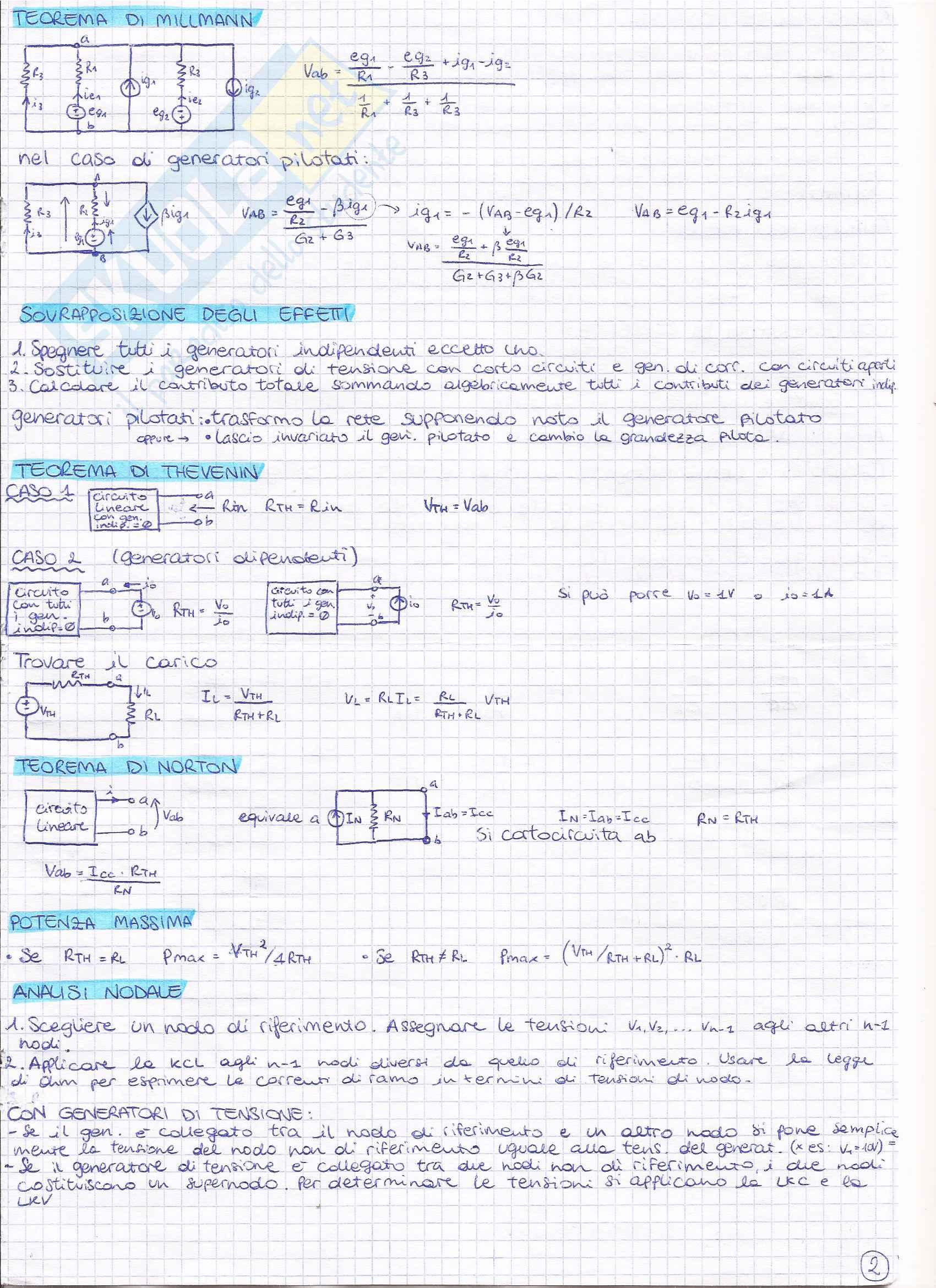 Formulario Elettrotecnica Pag. 2