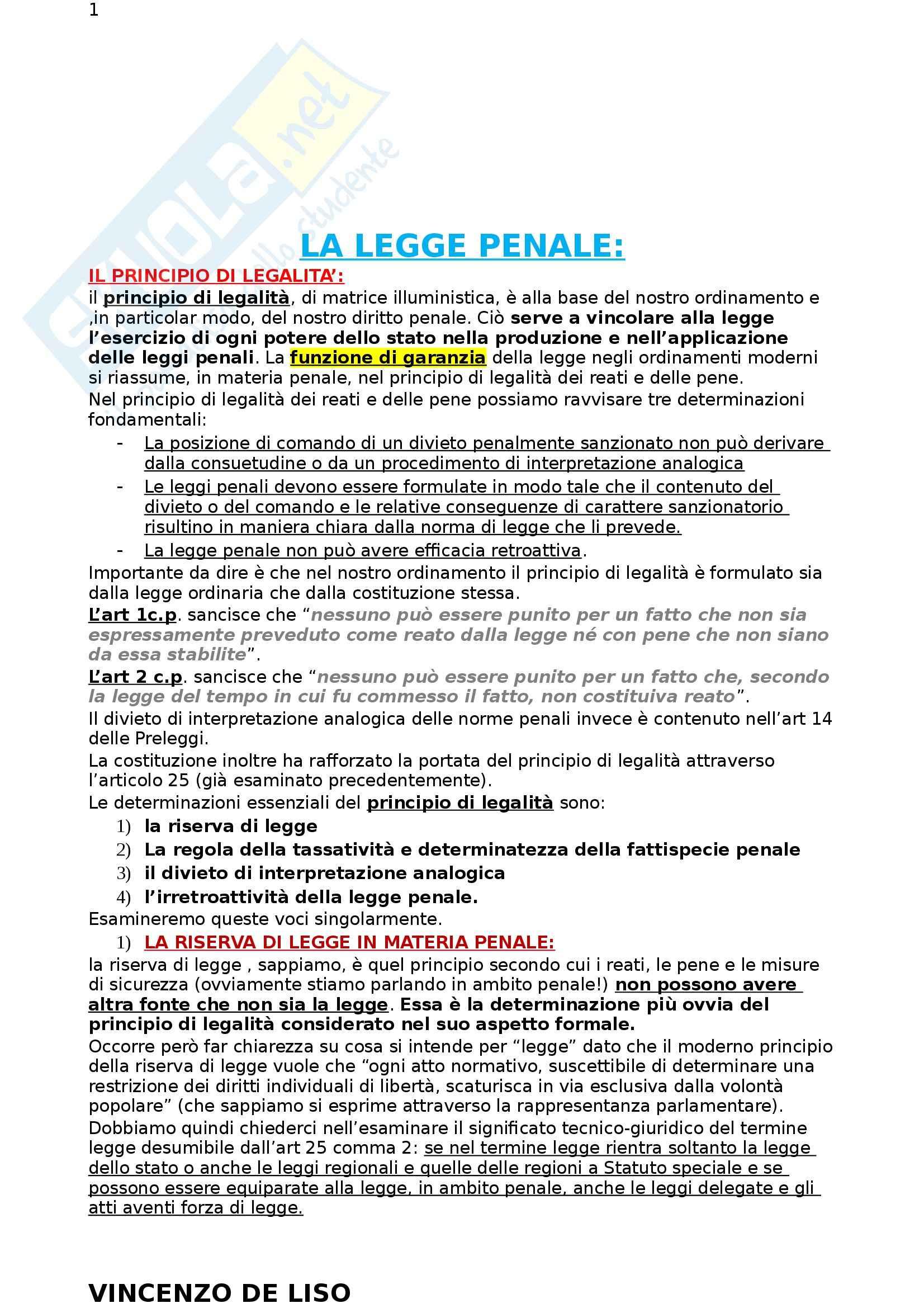 Riassunto esame Diritto Penale, prof. Moccia, libro consigliato Diritto penale, Fiore