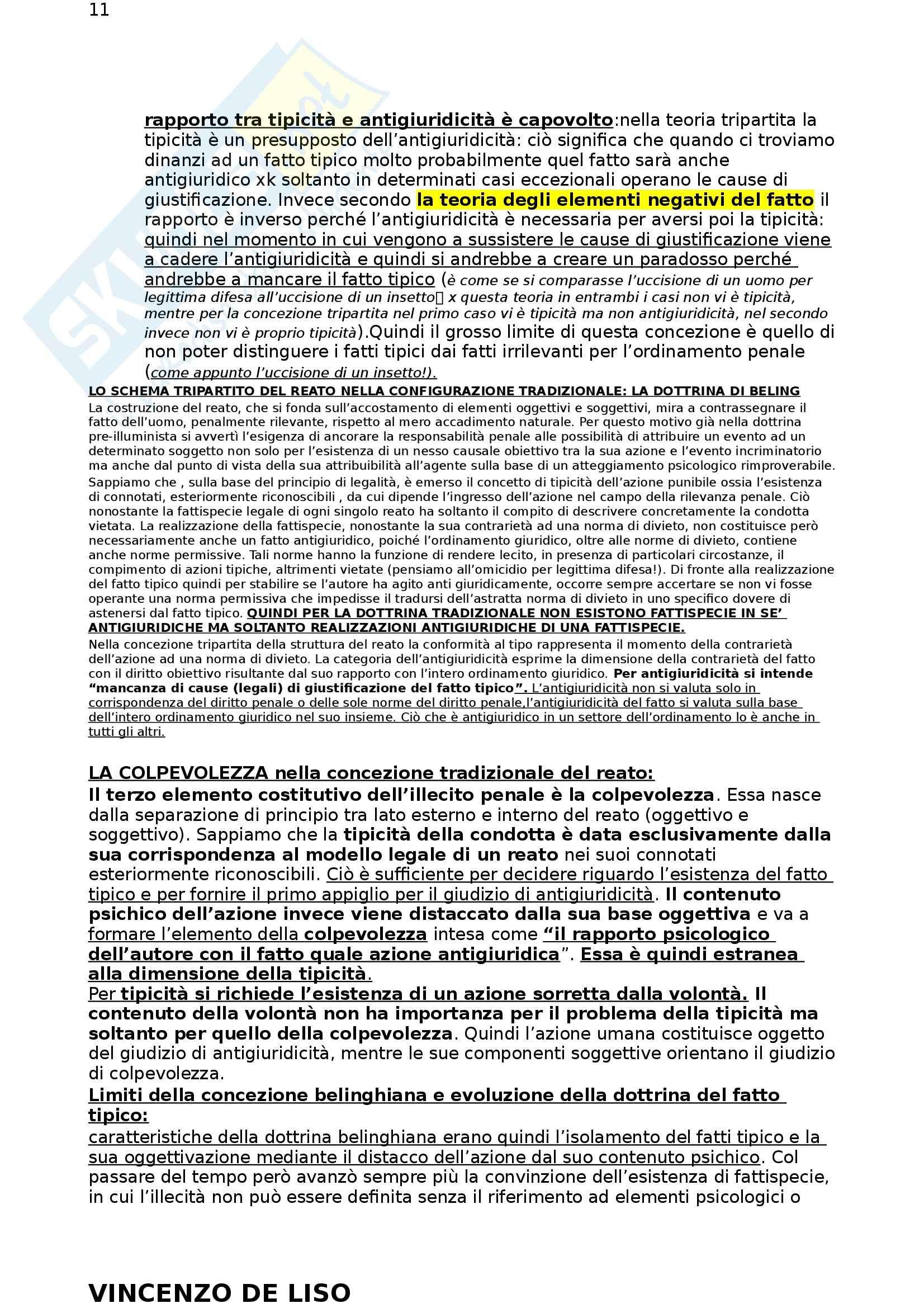 Riassunto esame Diritto Penale, prof. Moccia, libro consigliato Diritto penale, Fiore Pag. 11