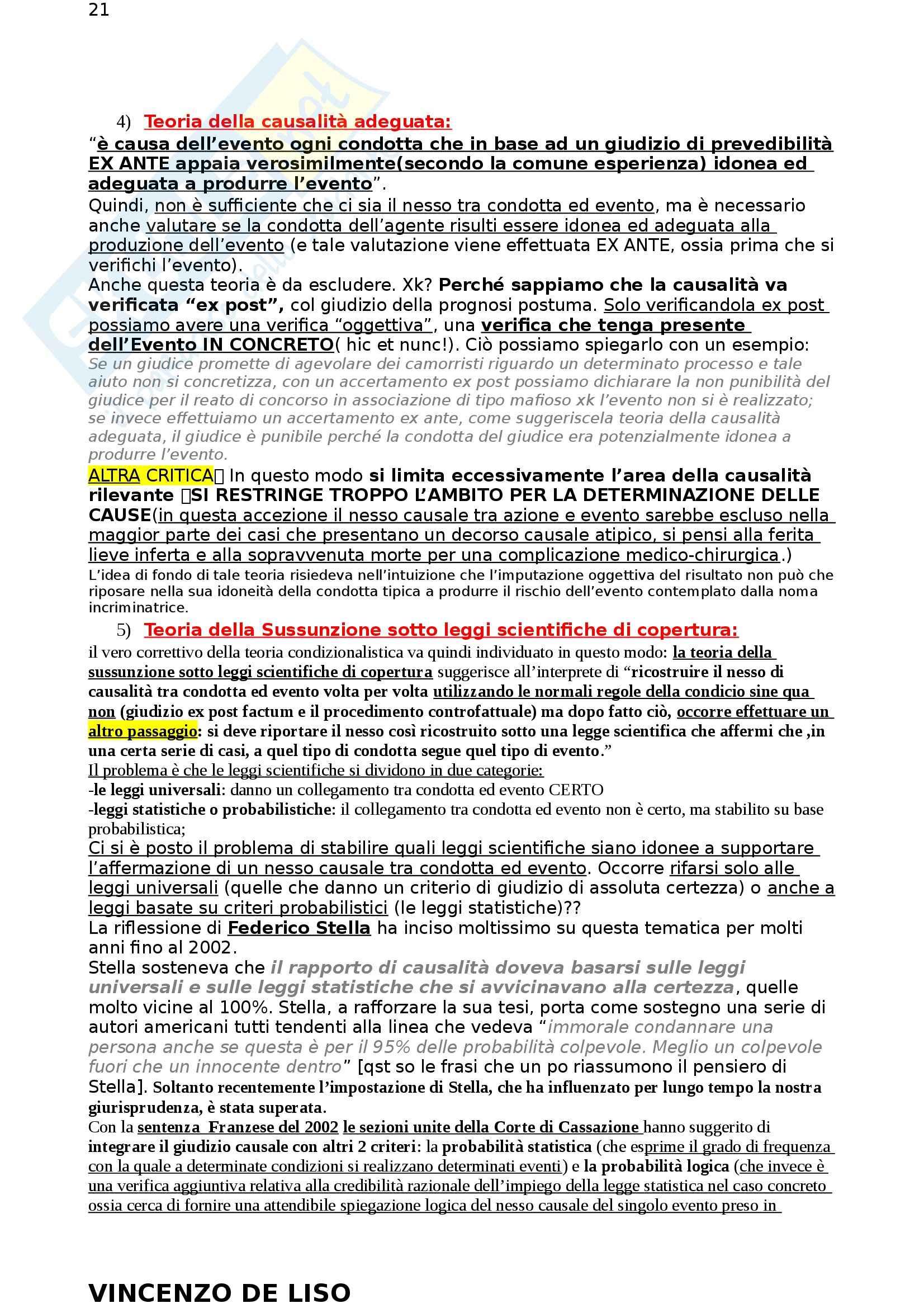 Riassunto esame Diritto Penale, prof. Moccia, libro consigliato Diritto penale, Fiore Pag. 21