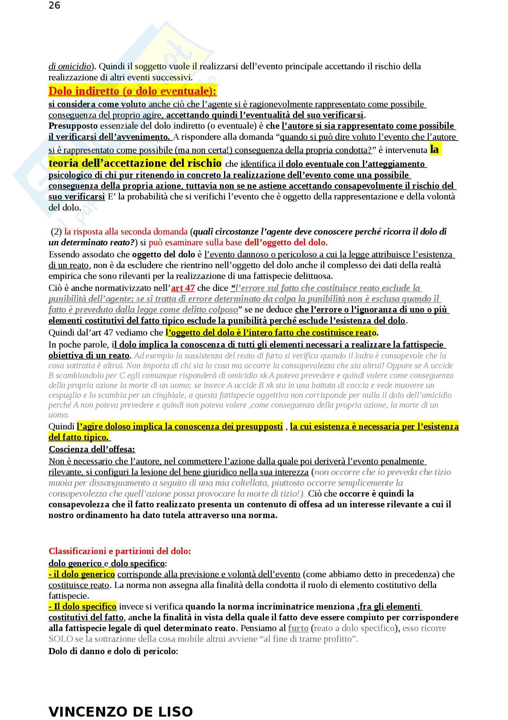 Riassunto esame Diritto Penale, prof. Moccia, libro consigliato Diritto penale, Fiore Pag. 26