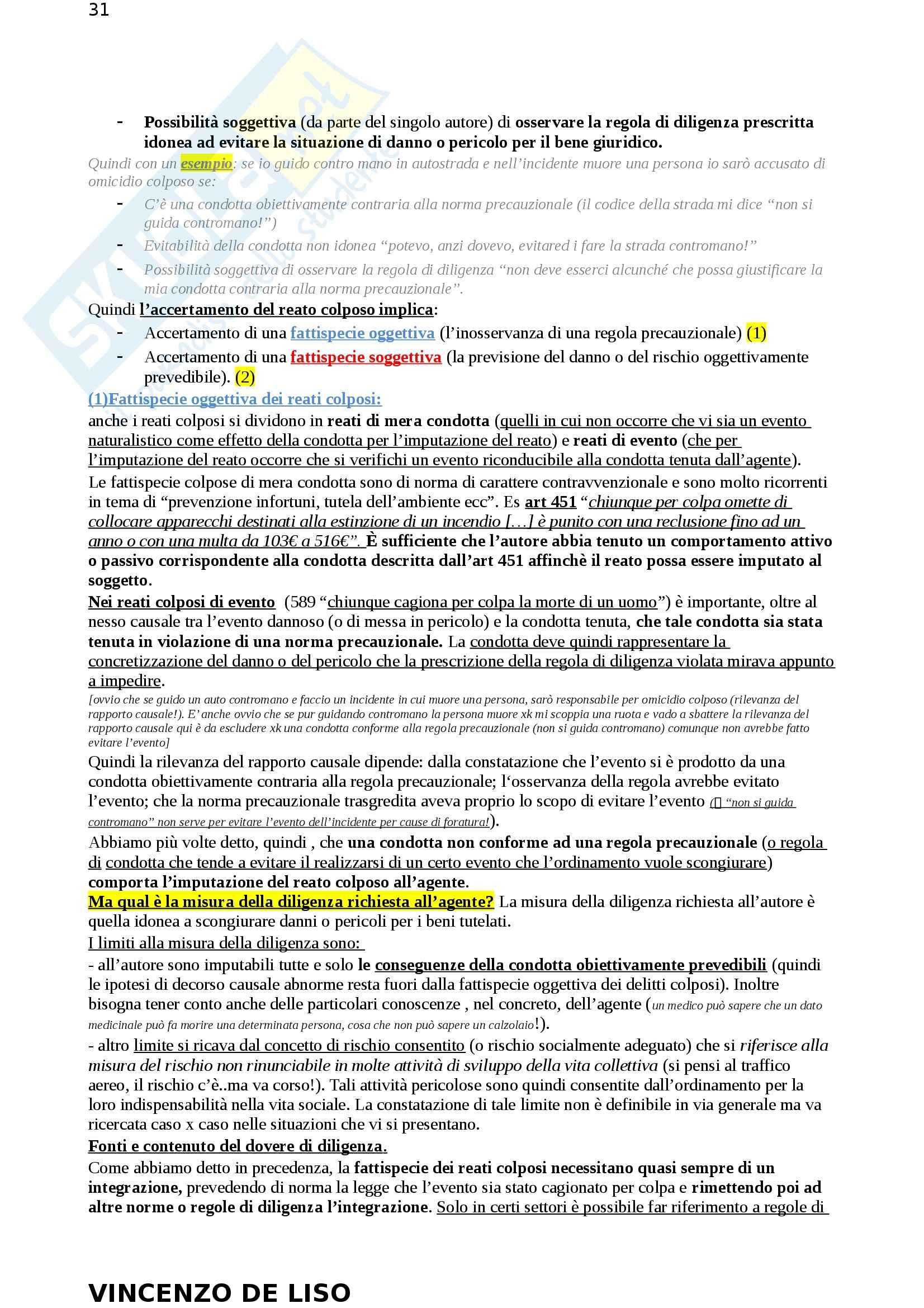 Riassunto esame Diritto Penale, prof. Moccia, libro consigliato Diritto penale, Fiore Pag. 31