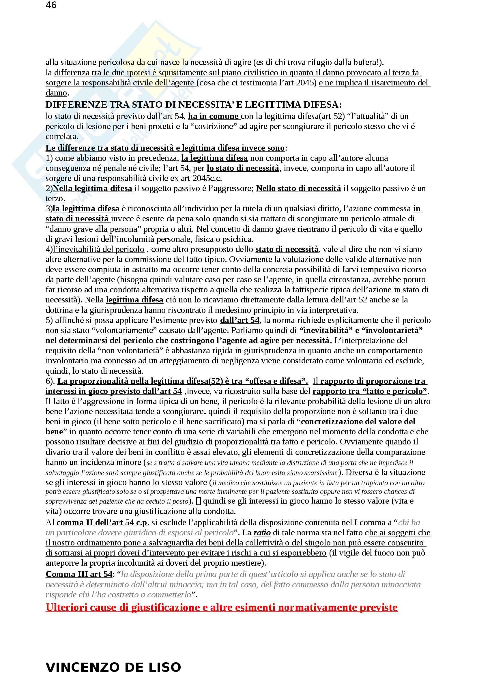 Riassunto esame Diritto Penale, prof. Moccia, libro consigliato Diritto penale, Fiore Pag. 46