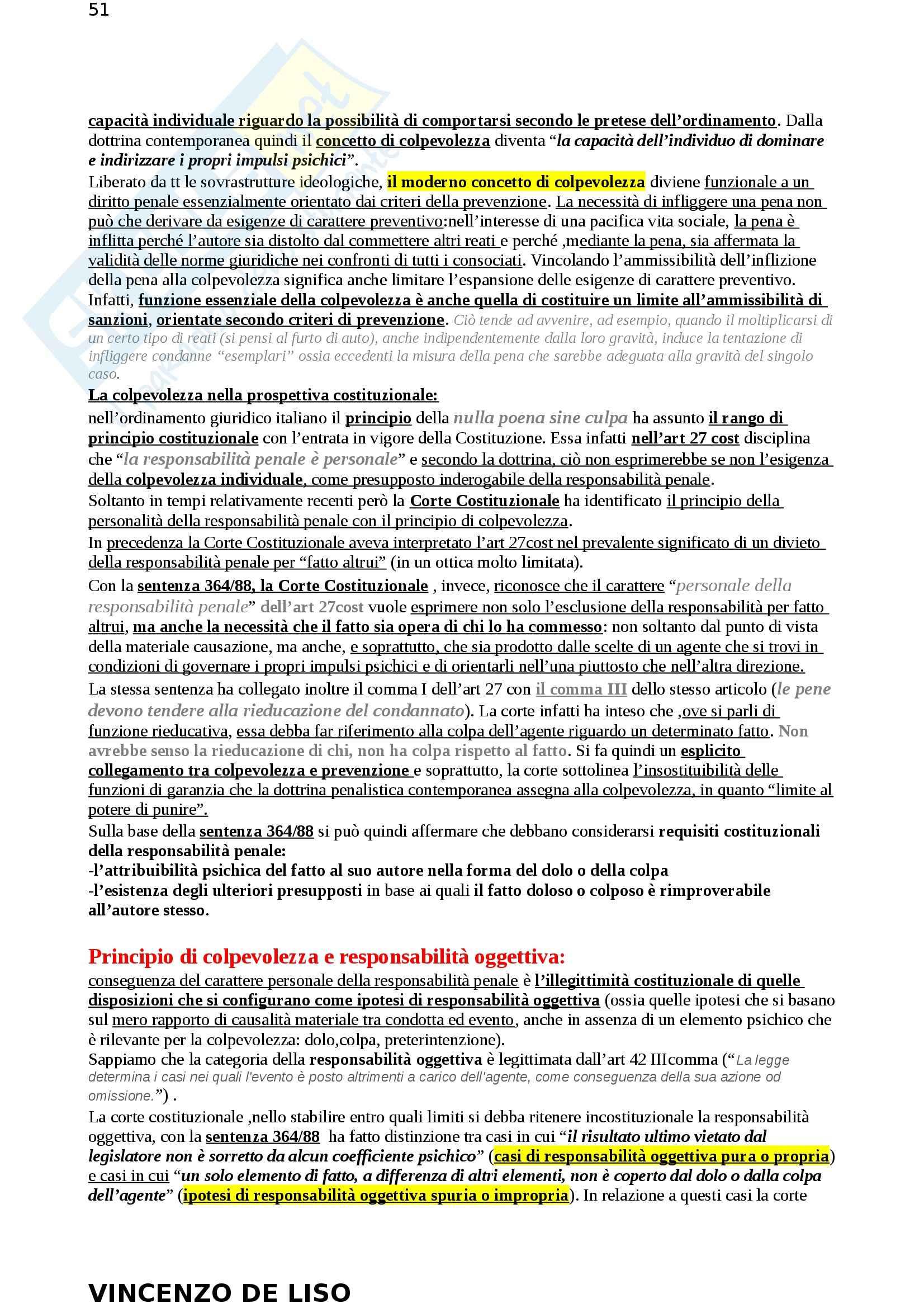 Riassunto esame Diritto Penale, prof. Moccia, libro consigliato Diritto penale, Fiore Pag. 51